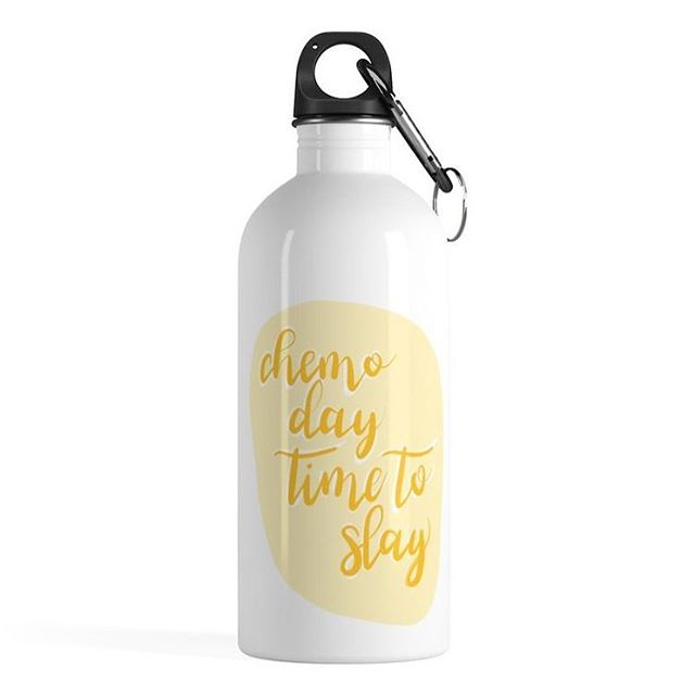 Starting a chemo day with a little pump up encouragement? Um, YES! I designed this water bottle for just that, and am so excited to have it available on www.betterandcompany.com and @etsy ✨