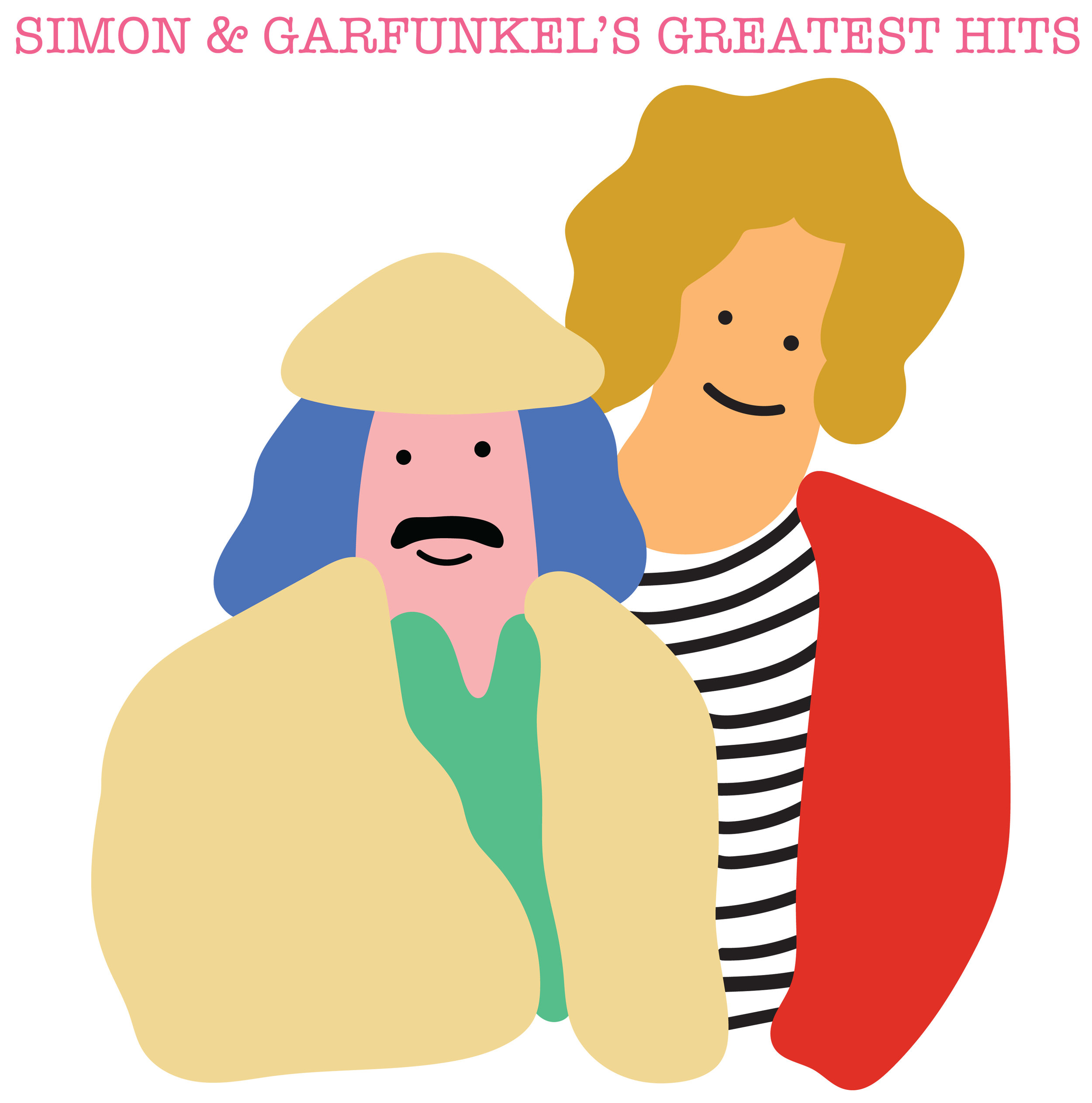 Simon and Garunkel T-shirt design made on Illustrator. 2018