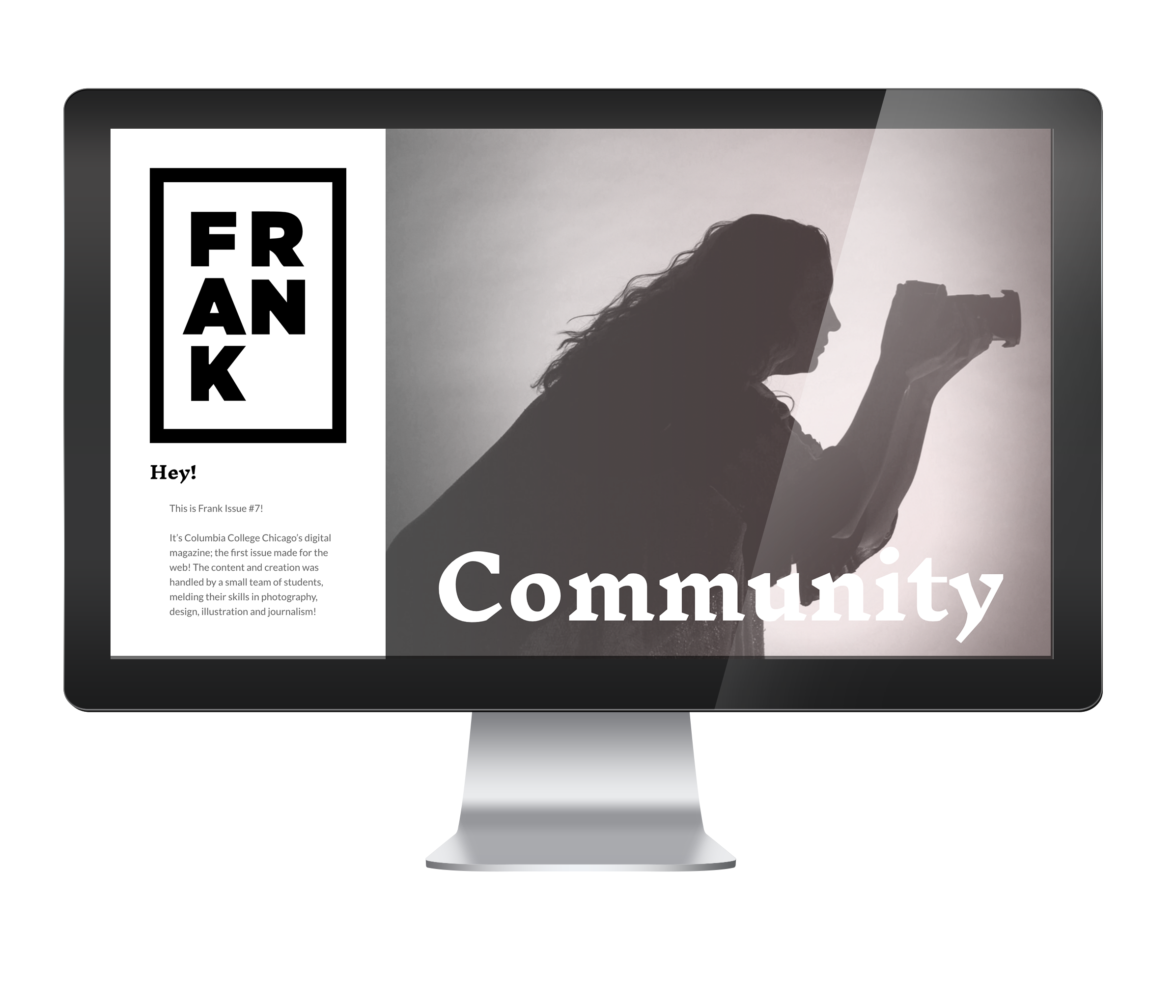 Frank Magazine - Wireframing, Interactivity, Select Icon Illustrations & Typographic System.