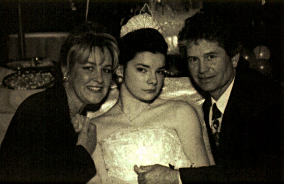 Barb Cameron, Melissa and Robert on Melissa's 21st Birthday