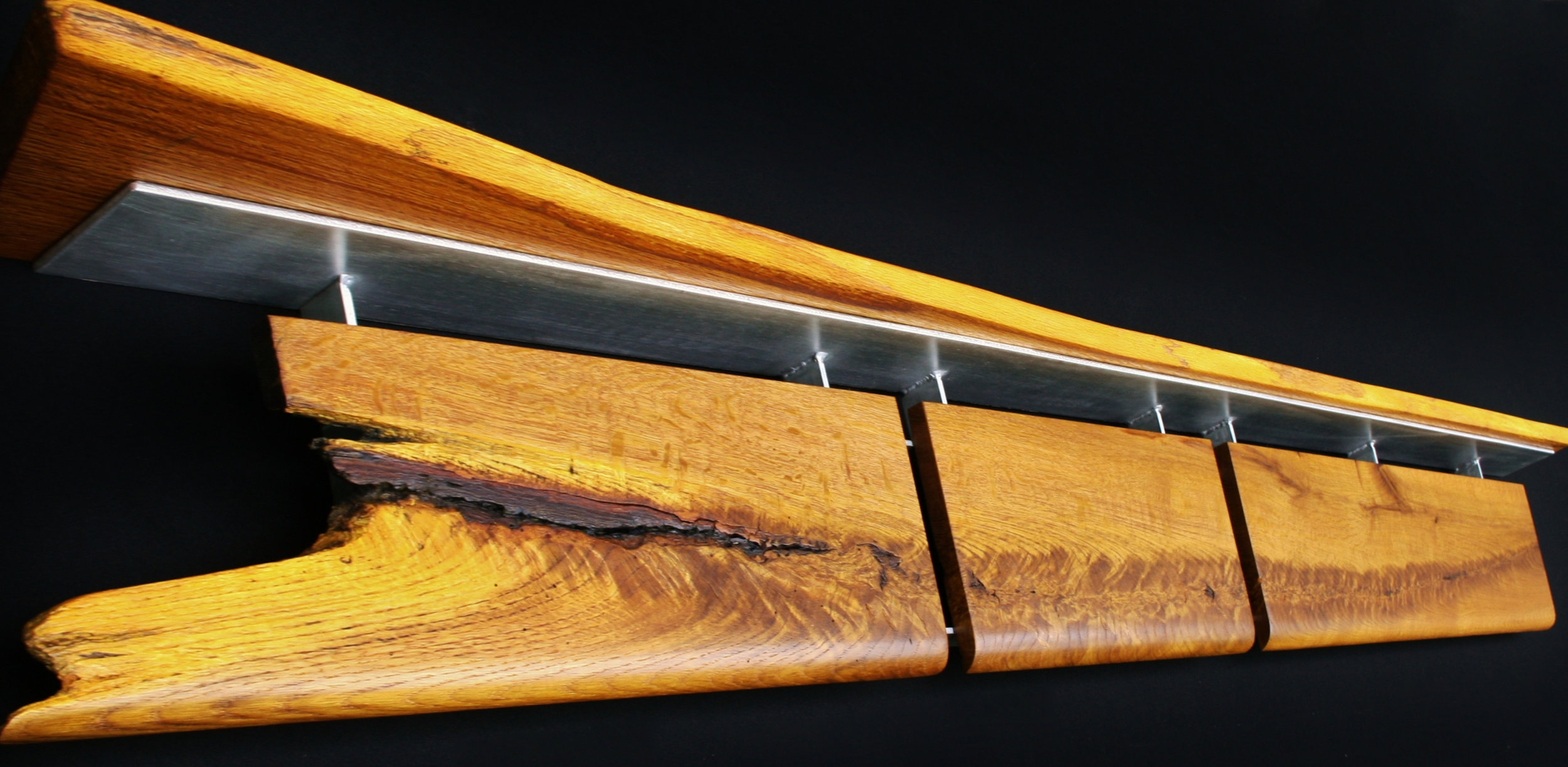 """Dinosaur Fossil"" headboard/mantel/shelf wall eco-sculpture"