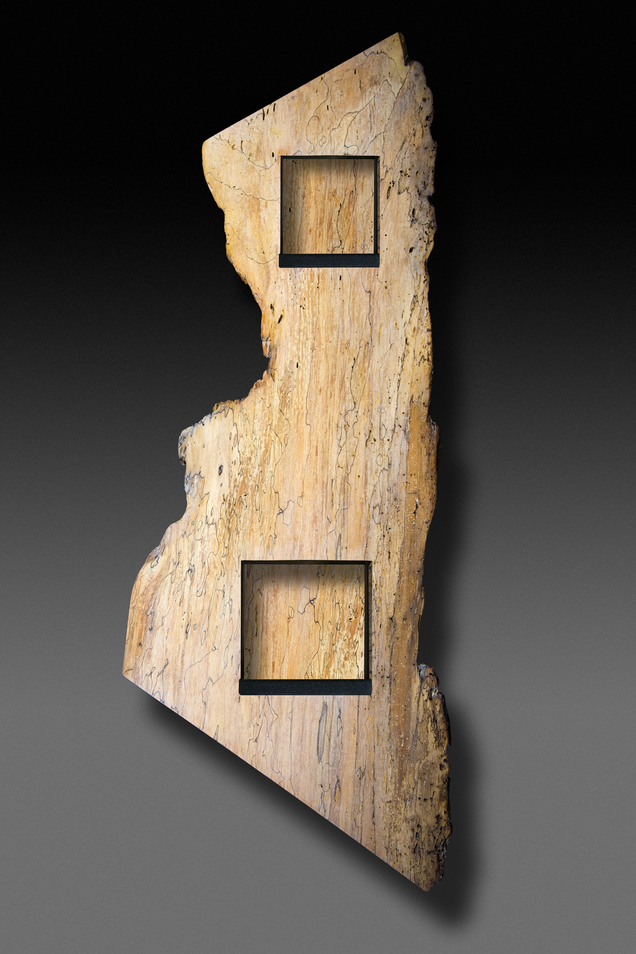 """Lynn and Henry"" spalted maple wall eco sculpture"