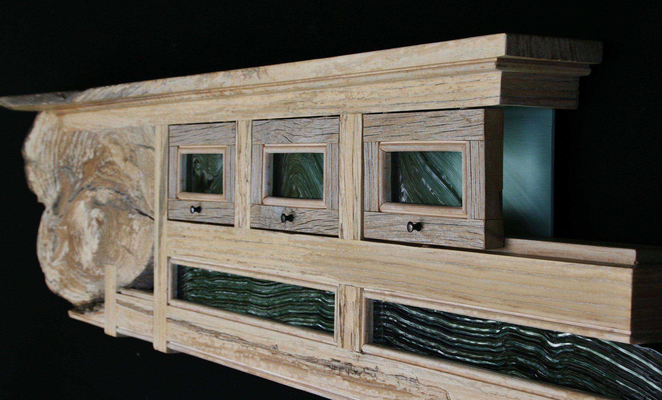 """USS Enterprise"" 6 ft wall eco-sculpture"