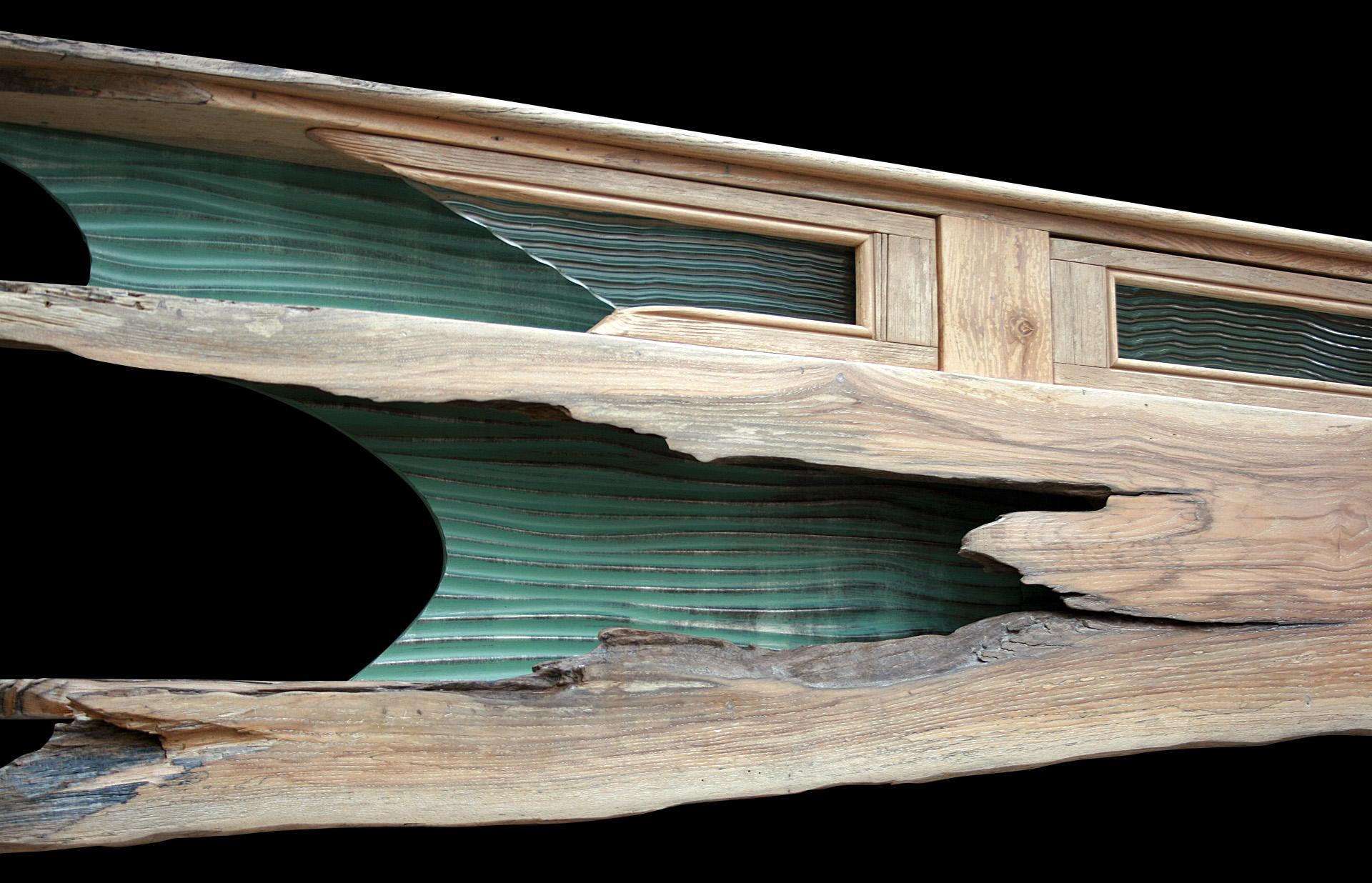 """""""Kathryn K"""" 8 ft mantel/ headboard/shelf wall eco sculpture"""