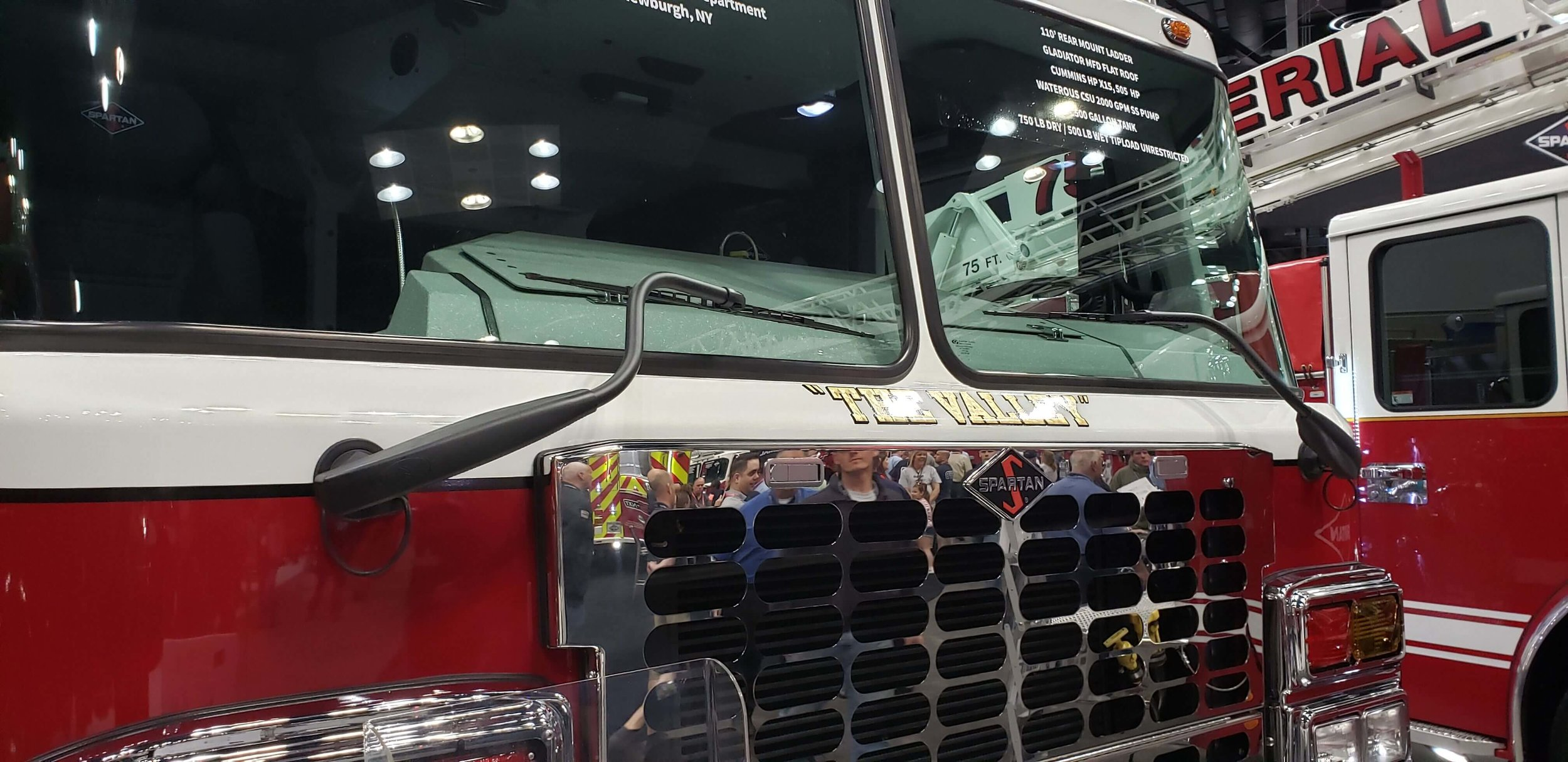 AM Equipment's  Heavy Duty Wiper System  on a Spartan Cab