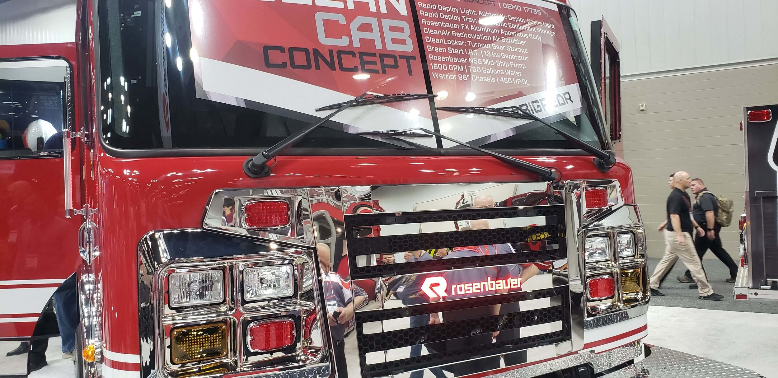 AM Equipment's  3-Pivot Opposed System  on a Warrior Cab for Rosenbauer