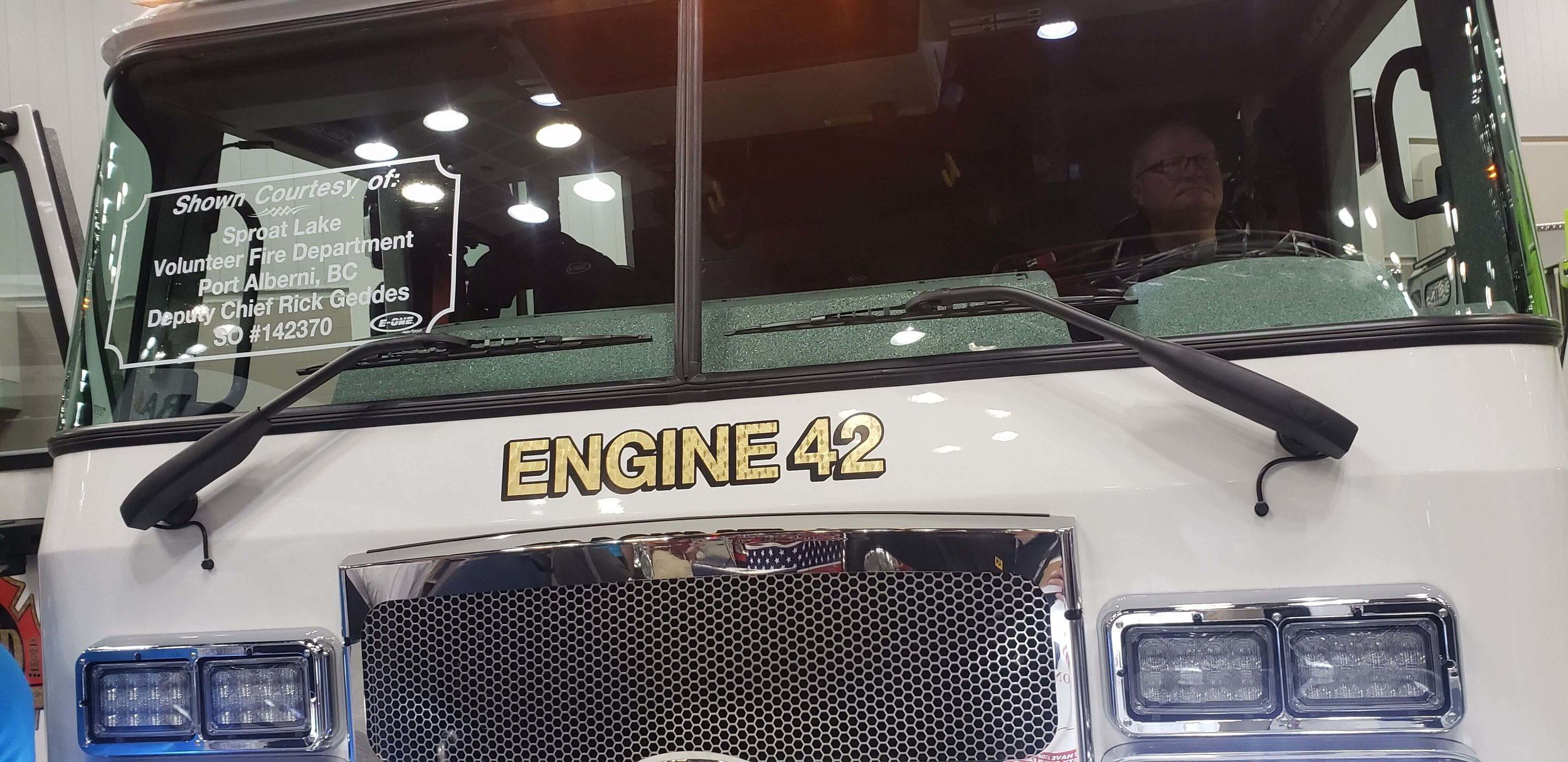 AM Equipment's  Heavy Duty Wiper System  on an EONE Cab