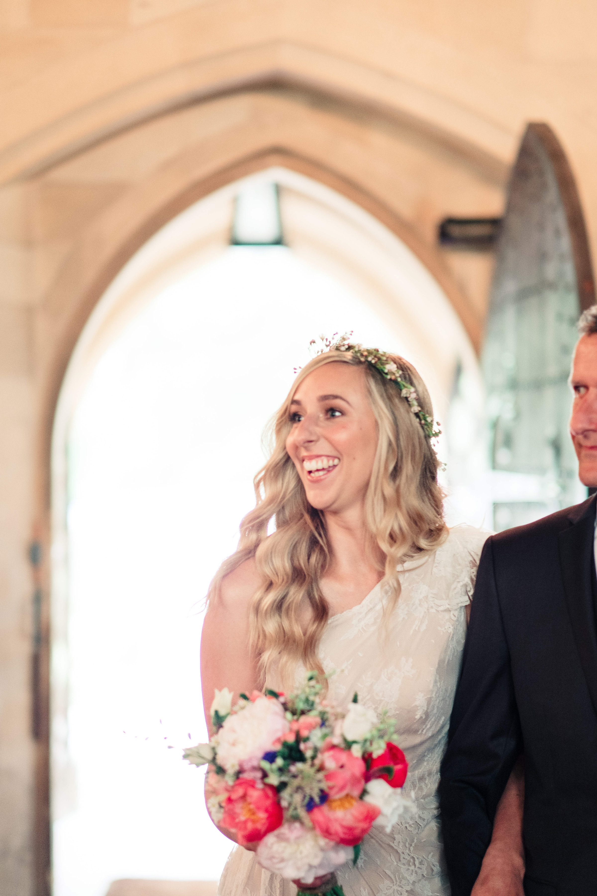 Natural glowing bride