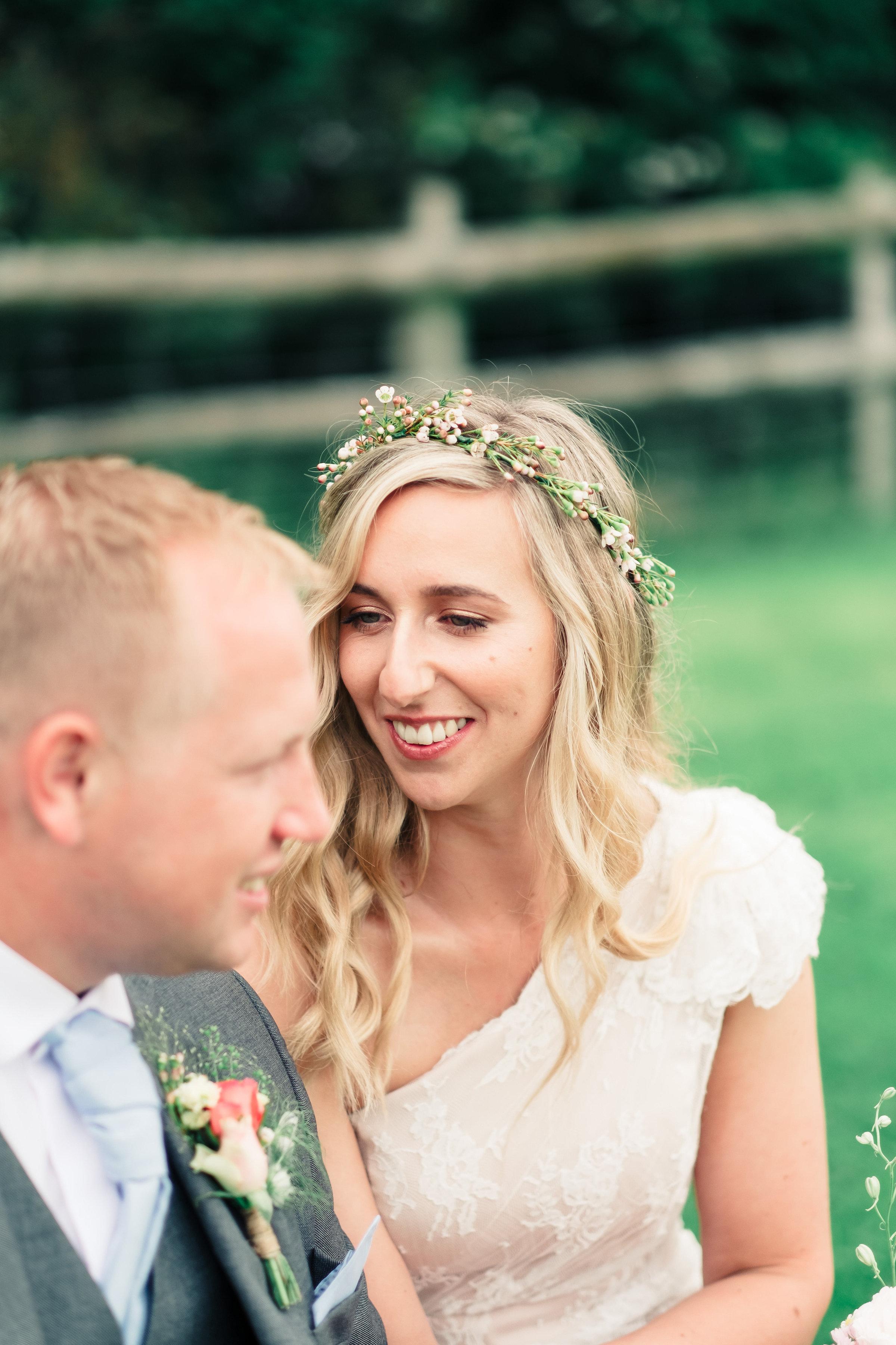 Natural glowing bronzed bride