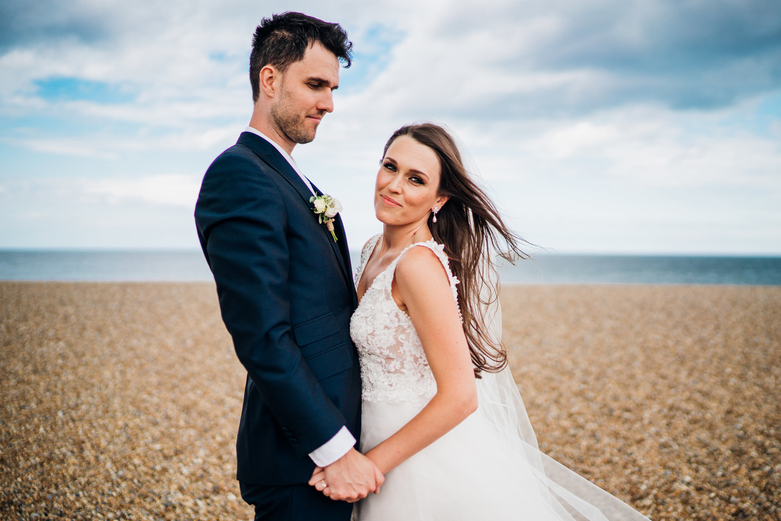 Lisa caldognetto  makeup Bride on beach by Abigail Steed photography