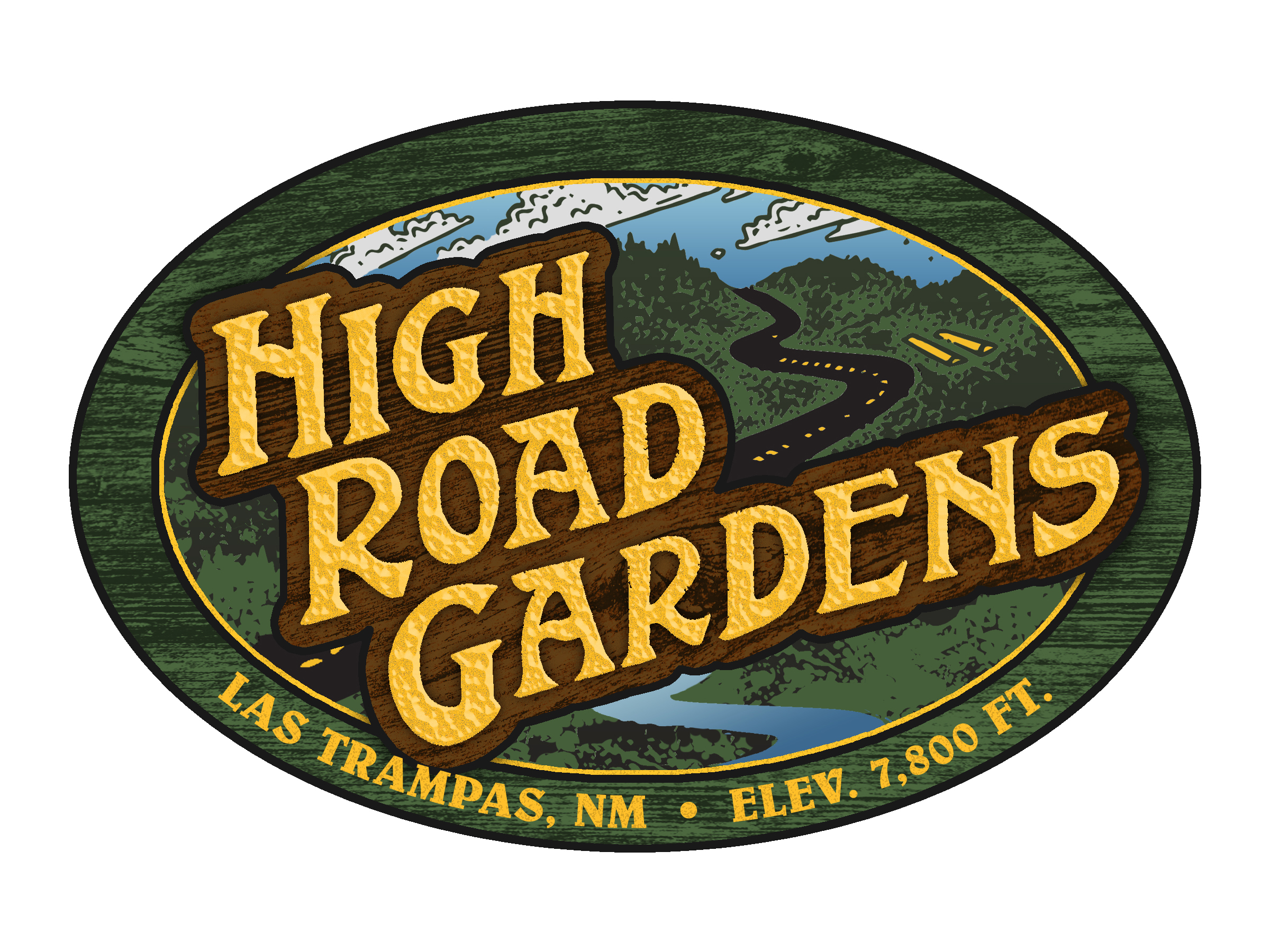 Logo Design for a low-till, no-till farm along the High Road to Taos. For use on produce packaging.