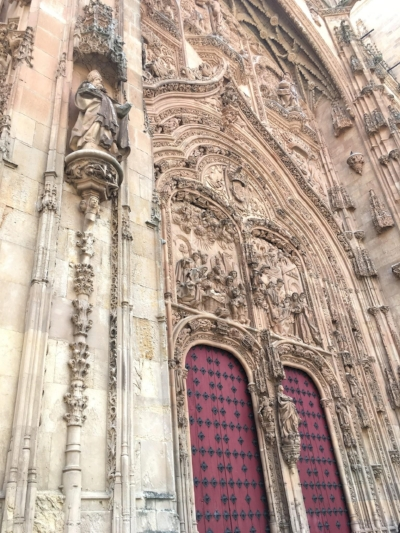 (Picture credit- me: the front entrance to the University of Salamanca)