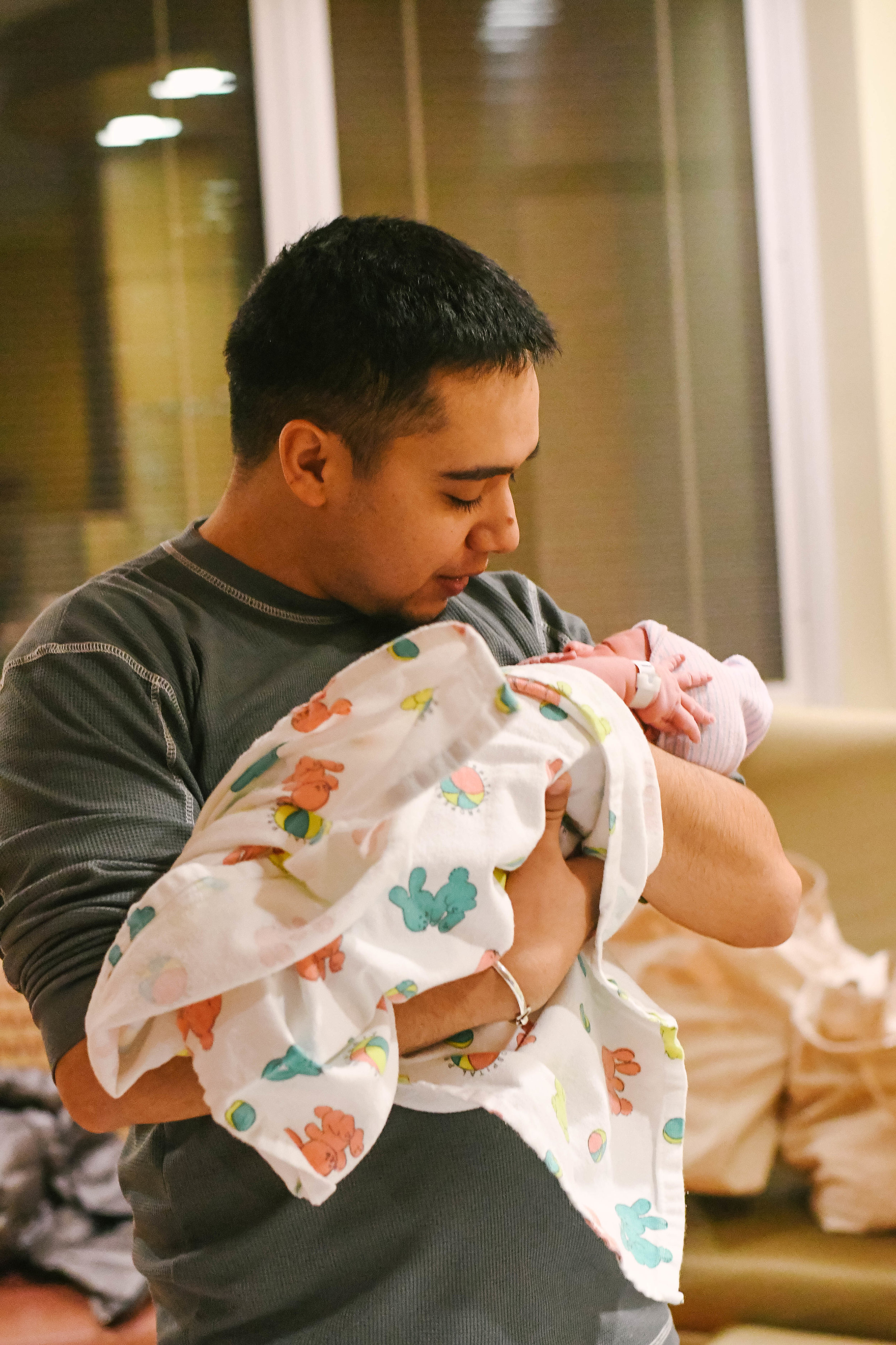 Watching your brother become a father truly is amazing! We will cherish these moments!