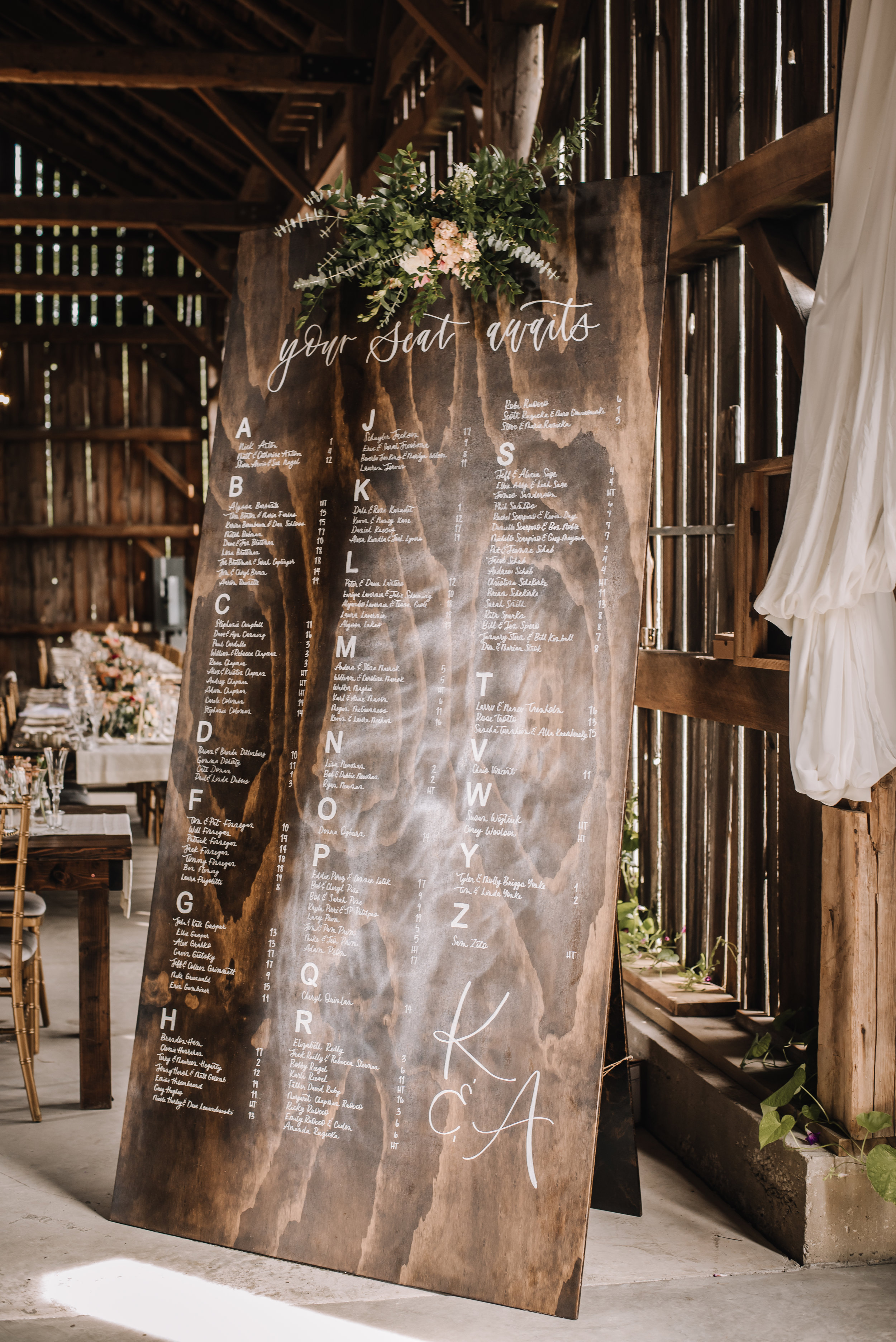 This was by far some of the largest wedding pieces I have created over the years. Wood Craft by Bradley Design Co.
