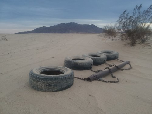 Border Patrol regularly wipes all border roads clean by dragging a tire apparatus behind their vehicle. The goal is to distinguish old footprints from new.
