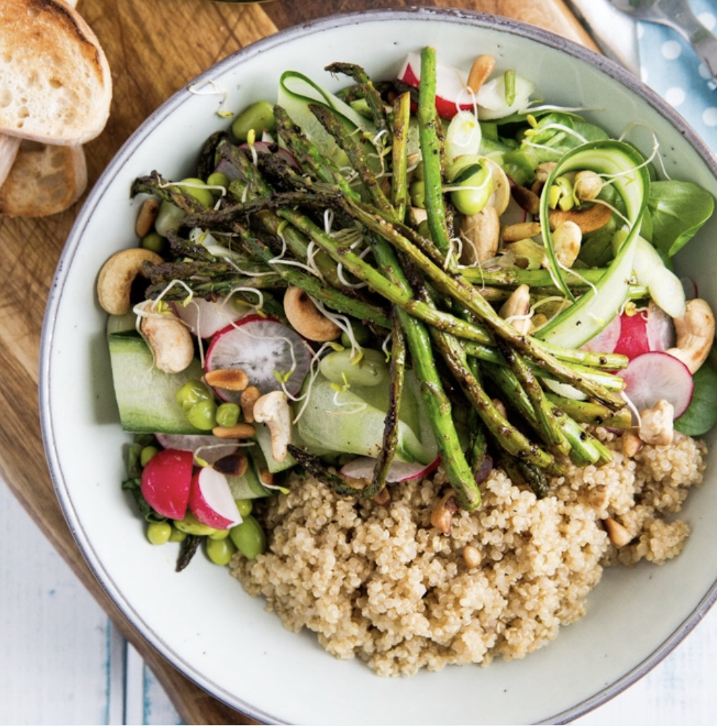 The original recipe has the salad served with quinoa which would be a lovely addition. Click on the picture above to print the recipe.