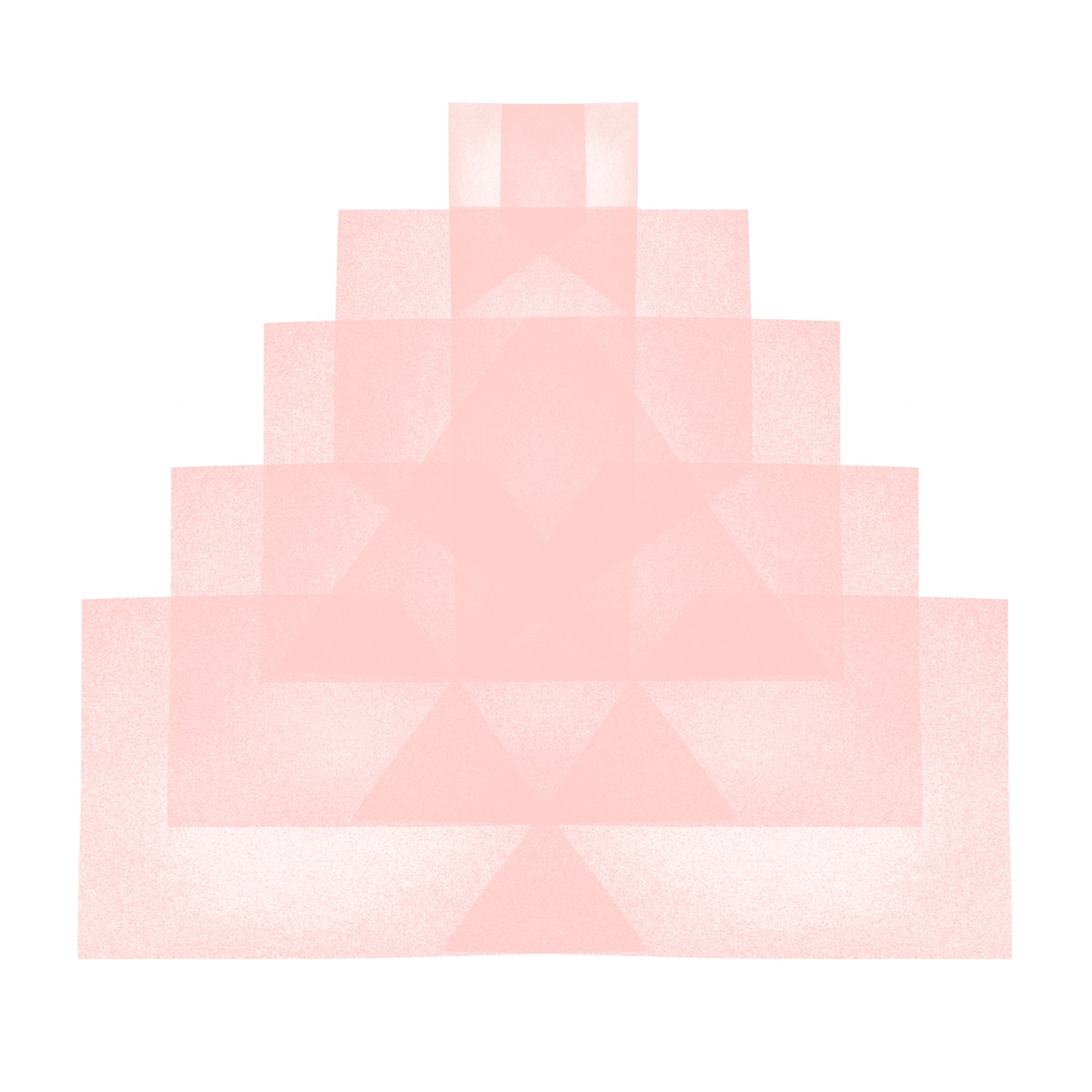 Blush Pink Tower: Soft Geometry