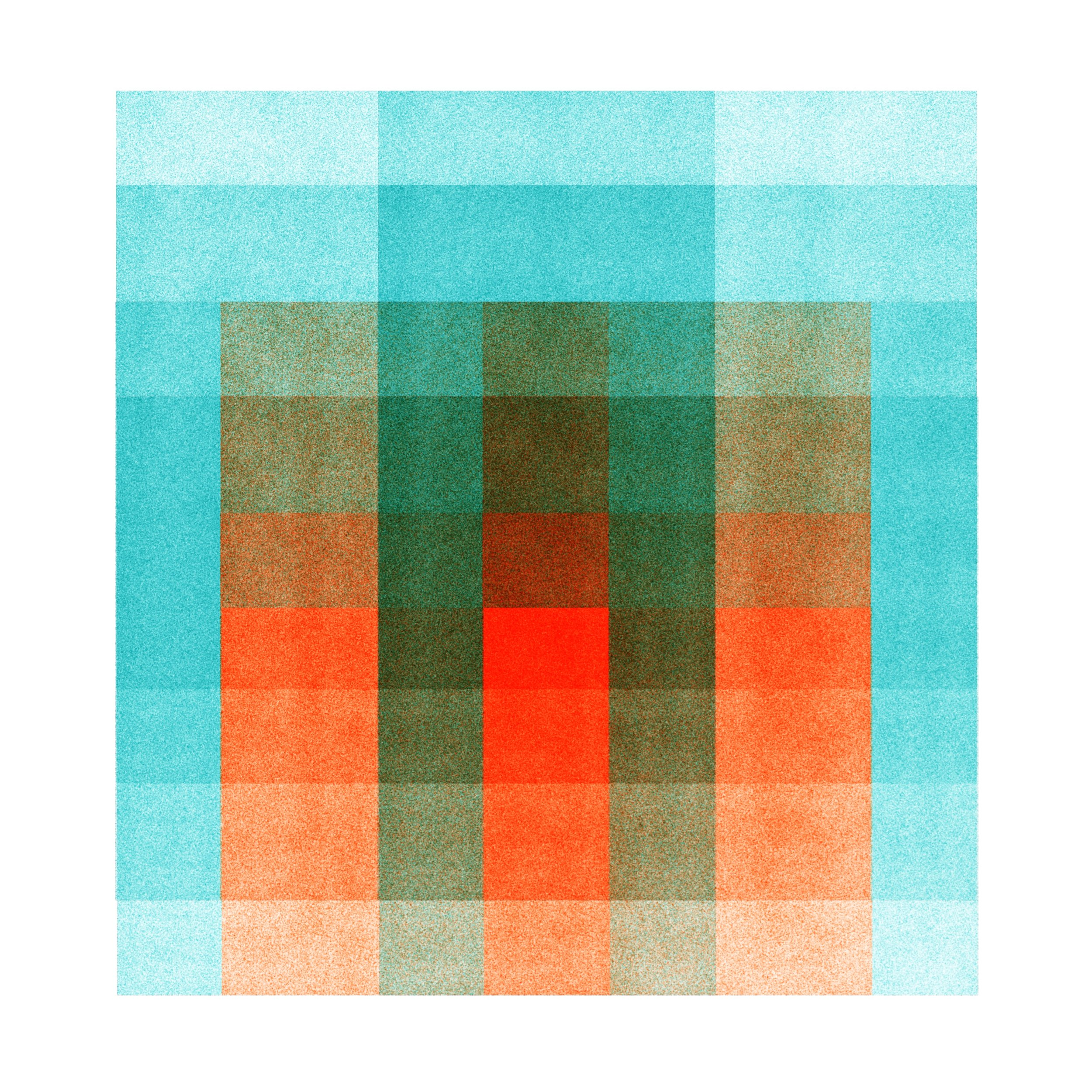Color Space: Turquoise & Tangerine