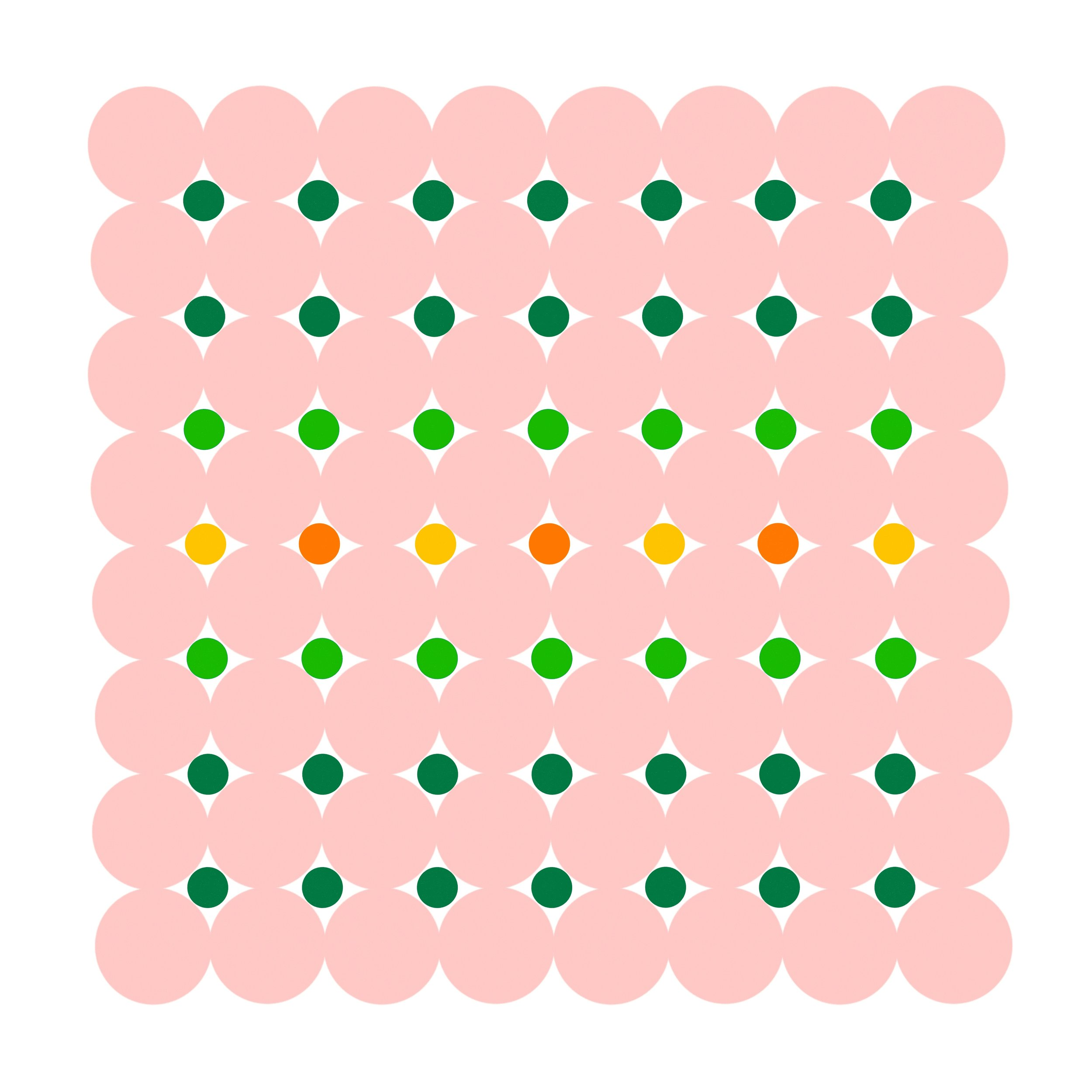 Dot Structure 3 - Soft Pink