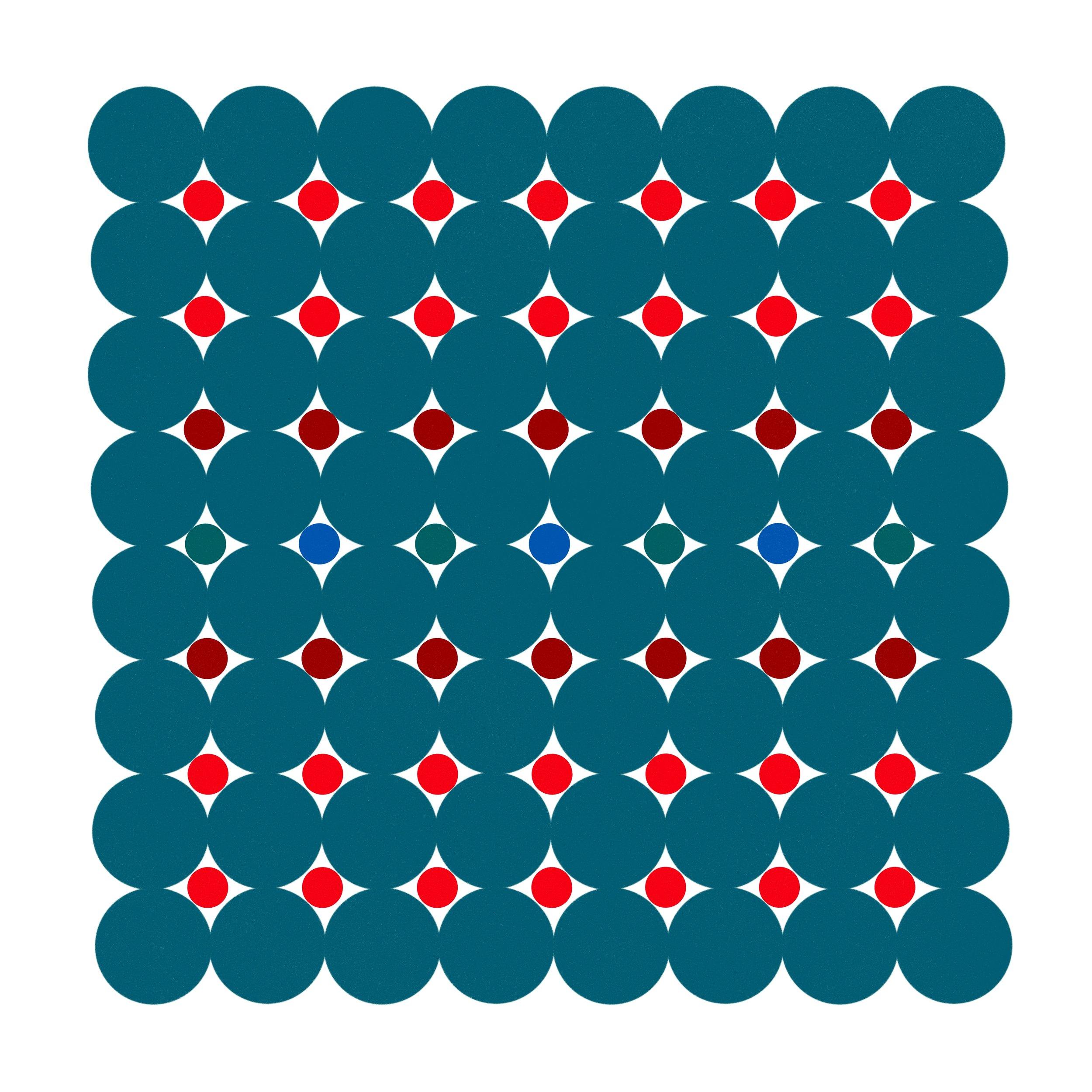 Dot Structure 4 - Deep Teal