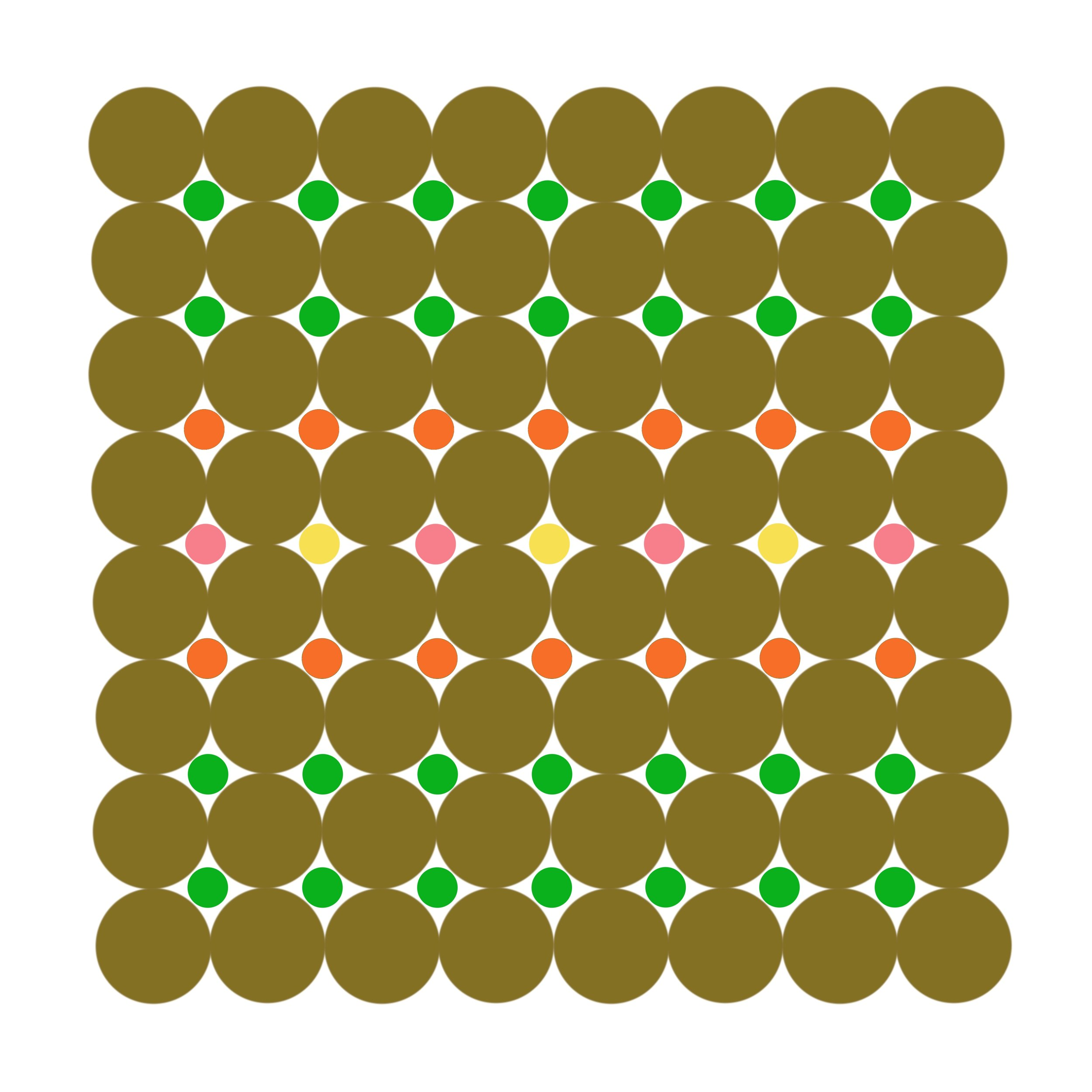 Dot Structure 6 - Olive