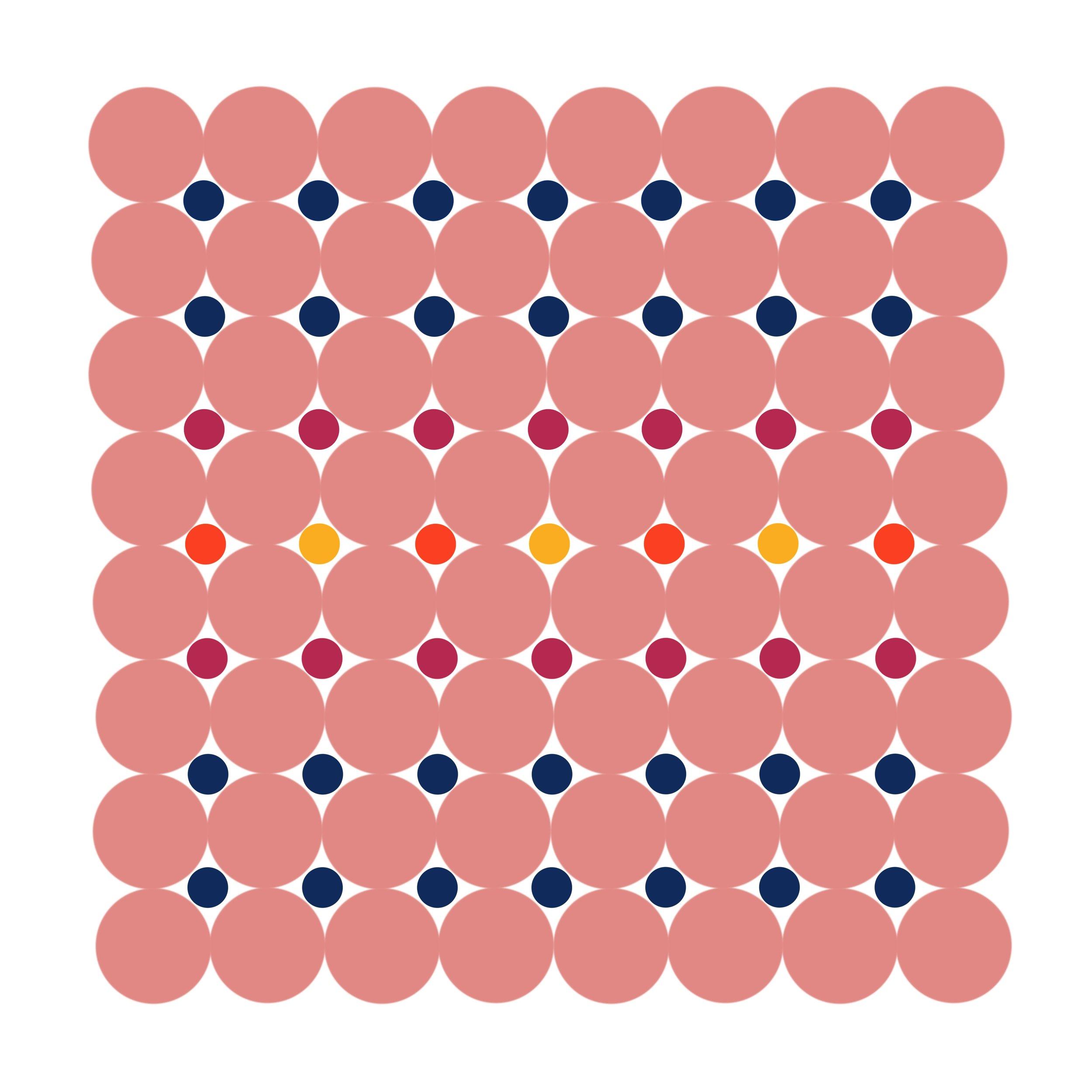Dot Structure 9 - Dusky Pink