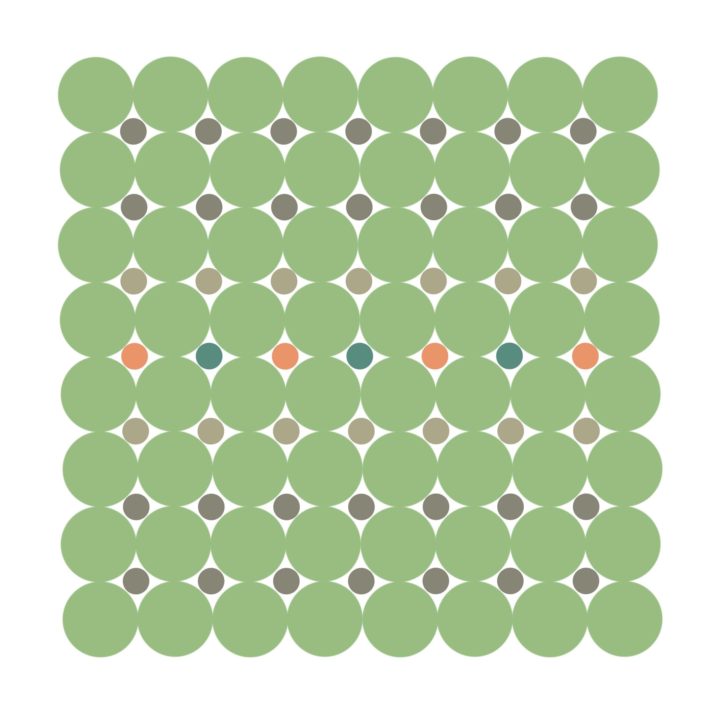 Dot Structure 10 - Seafoam Green