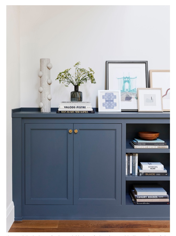 Designer Emily Henderson's Portland Project featured Kinetic Lines 17 in Navy Blue.