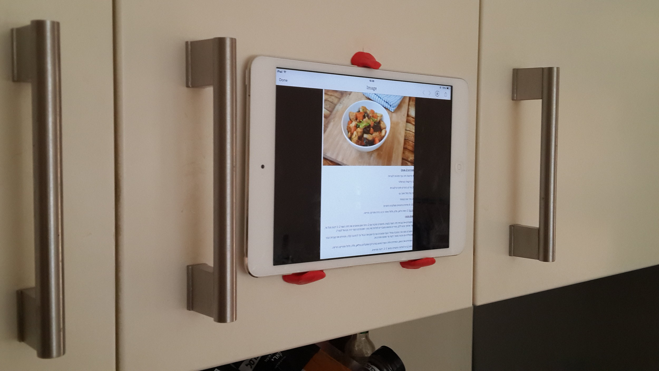 // Kitchen iPad Stand