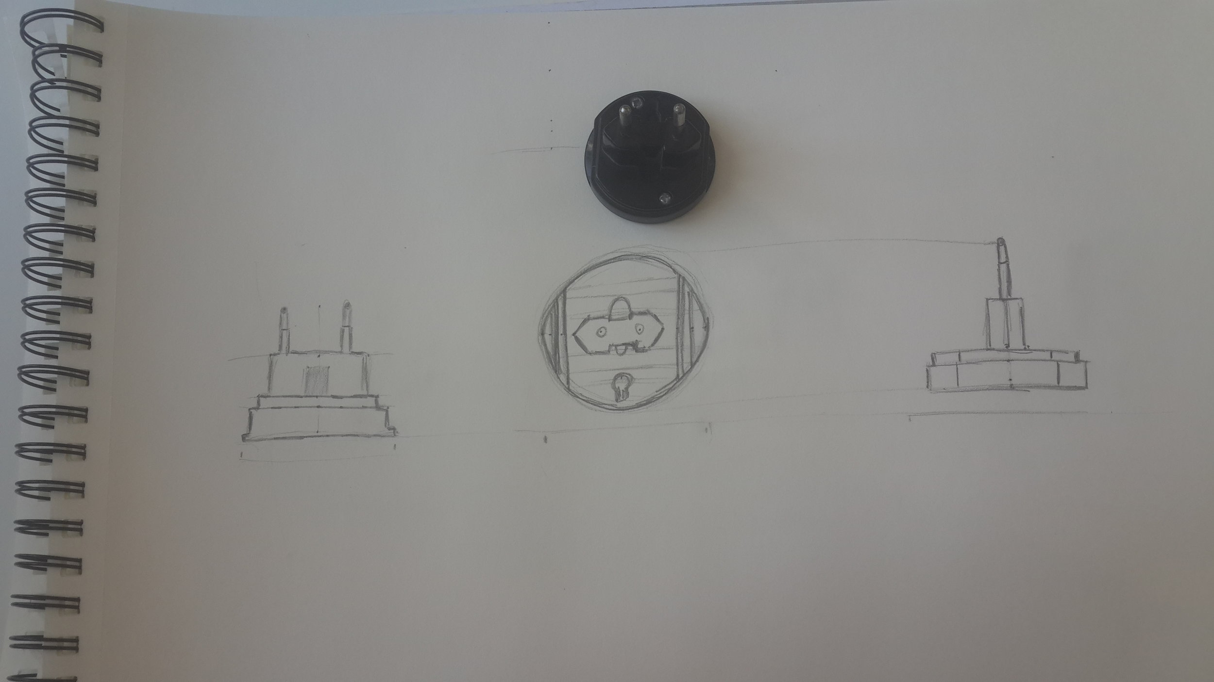 Technical Sketch of an Electrical Plug