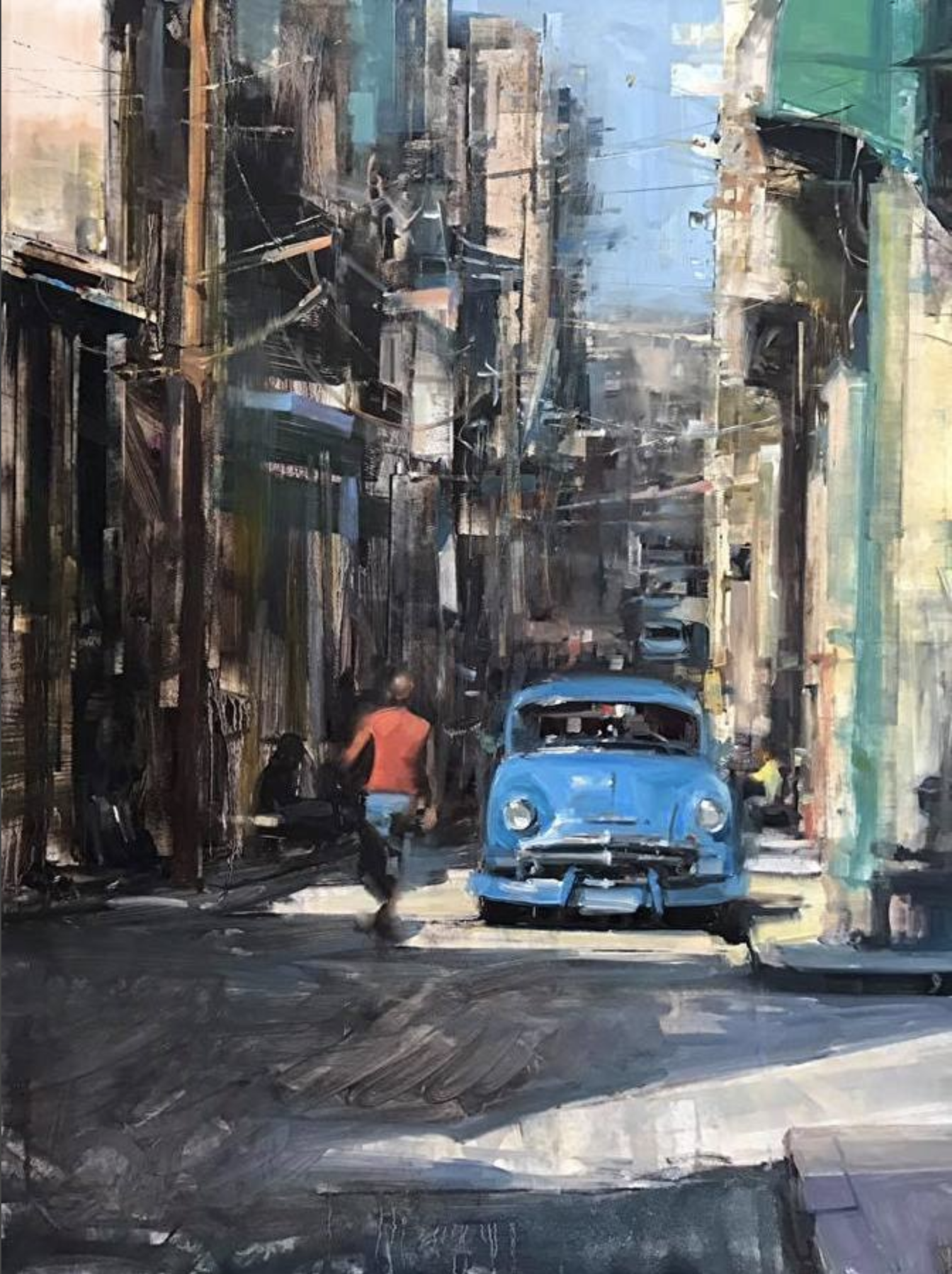 Bryan Mark Taylor. Havana Classic (2016) Oil on panel.