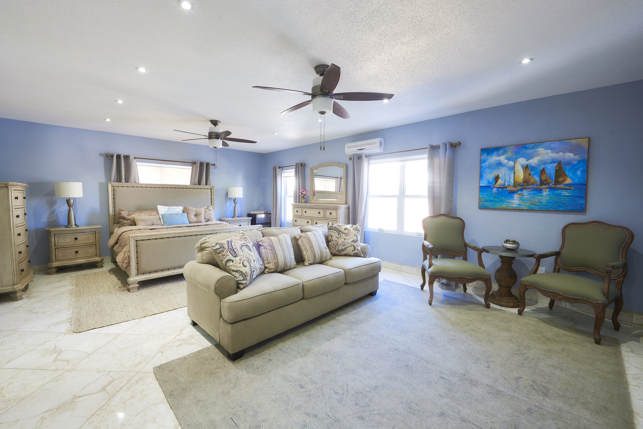 The Sapphire -Luxury Suite - A true gem, the sapphire Luxury Suite offers a King sized bed, spacious living area,, large bathroom and sofa bed. Comfortably elegant living