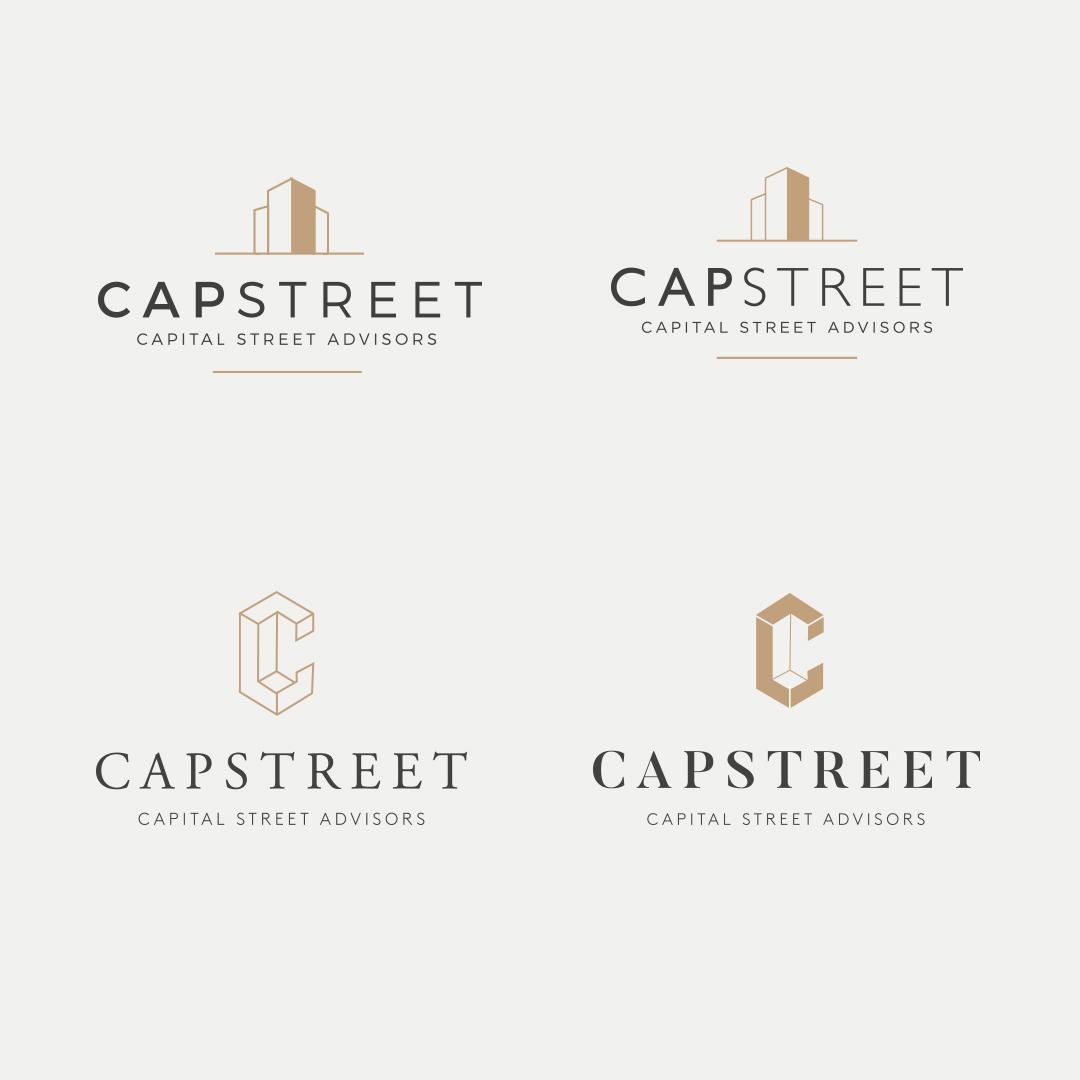 Logo design options for Capital Street Advisors