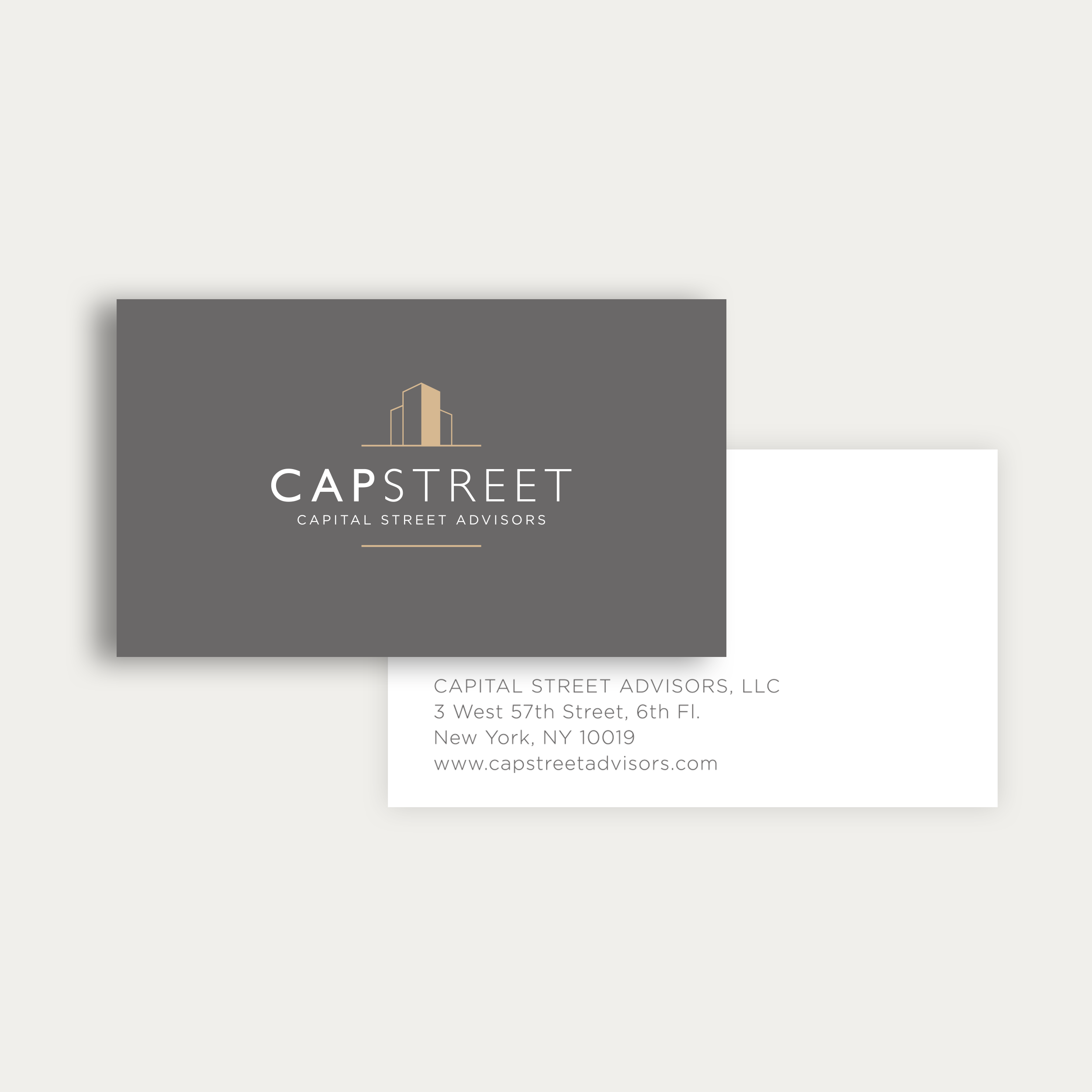 Business card design for Capital Street Advisors