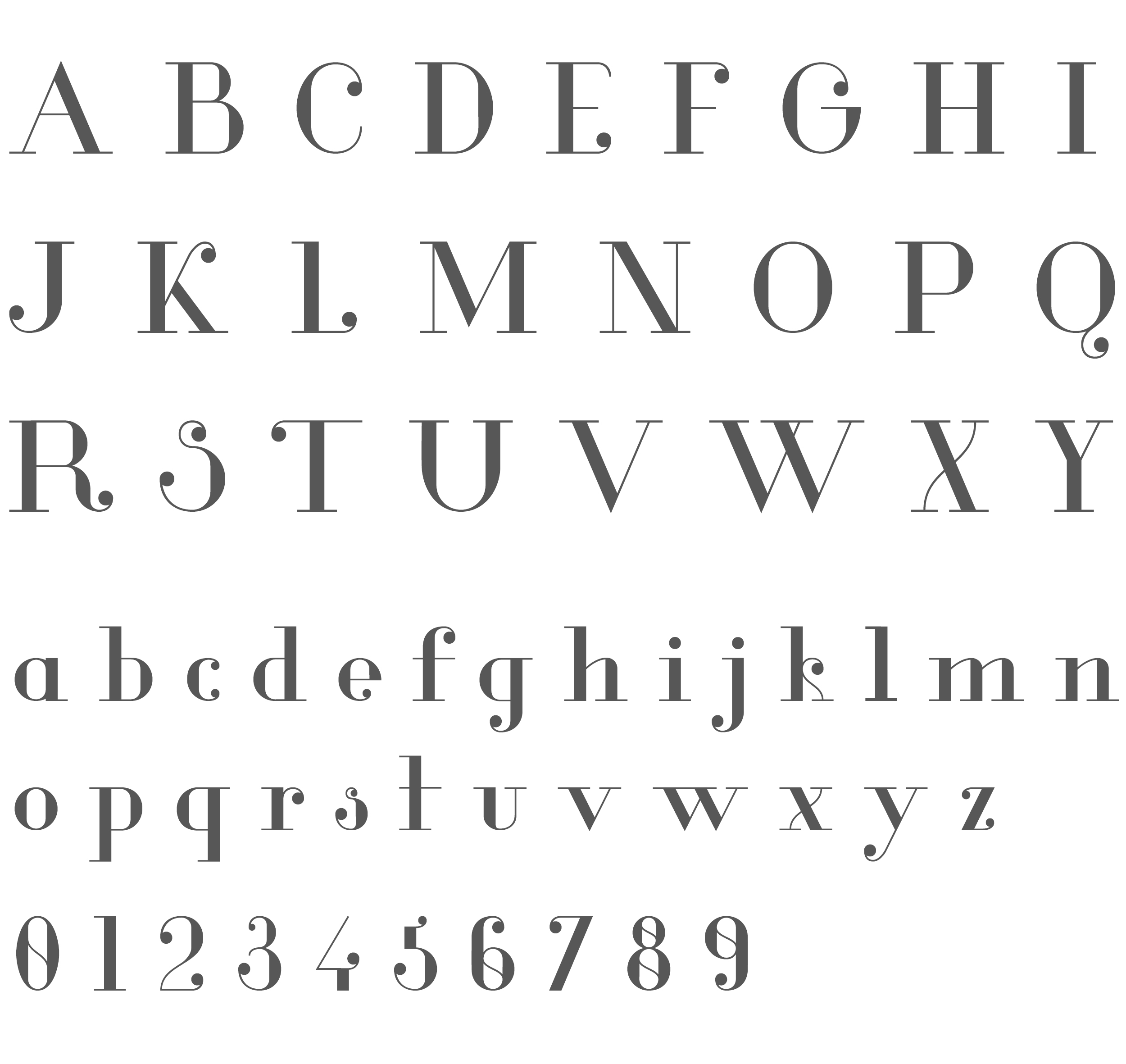 Tuesday's typography inspiration- Glamor font