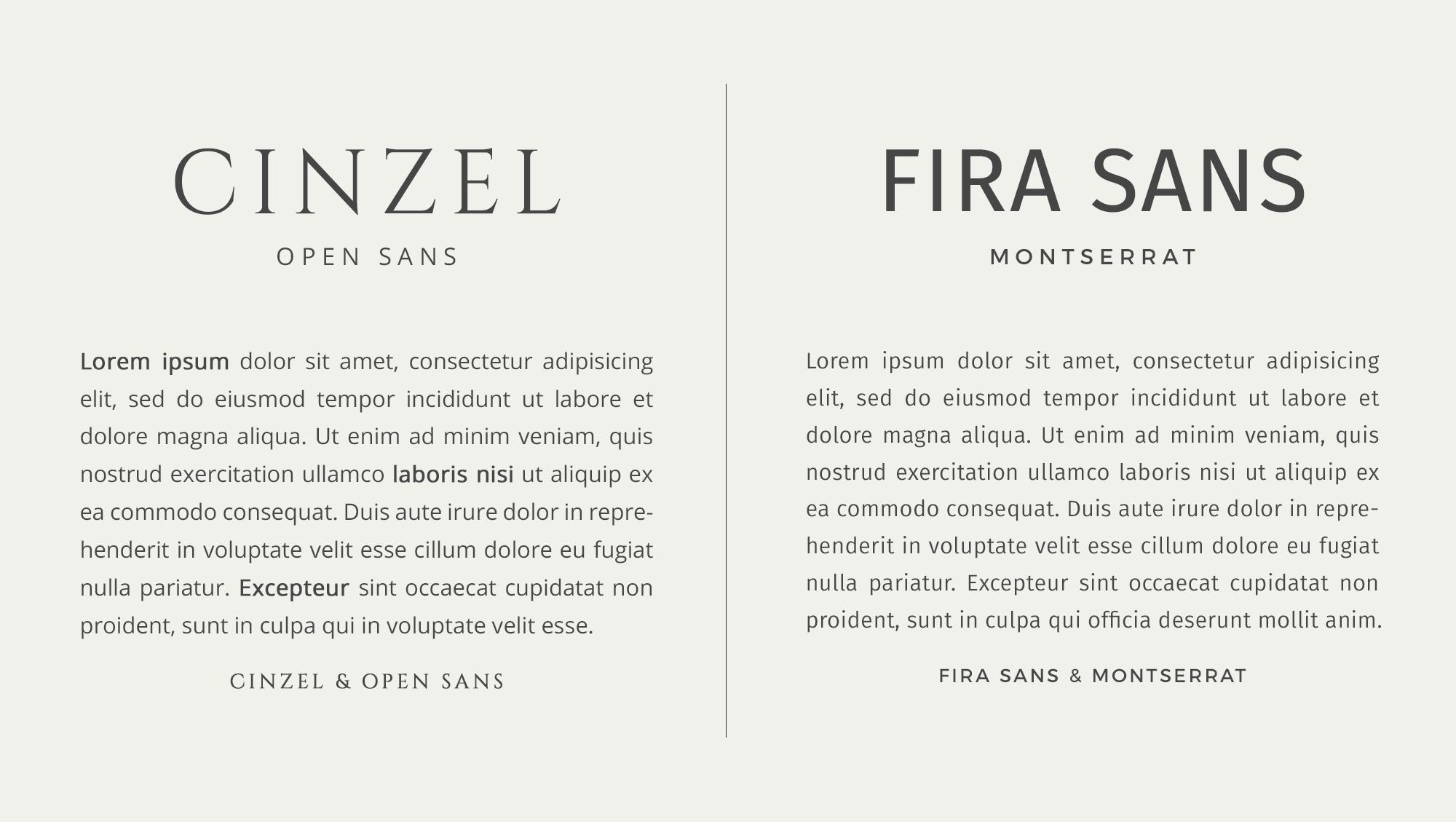 2 examples of font pairings | www.whiteboxdesignstudio.com