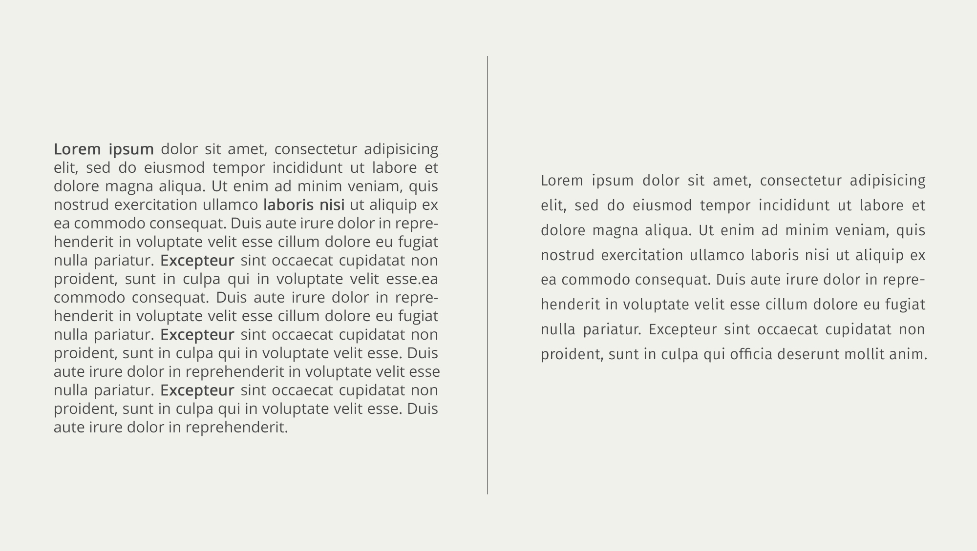 Vertical spacing example by White Box Design Studio