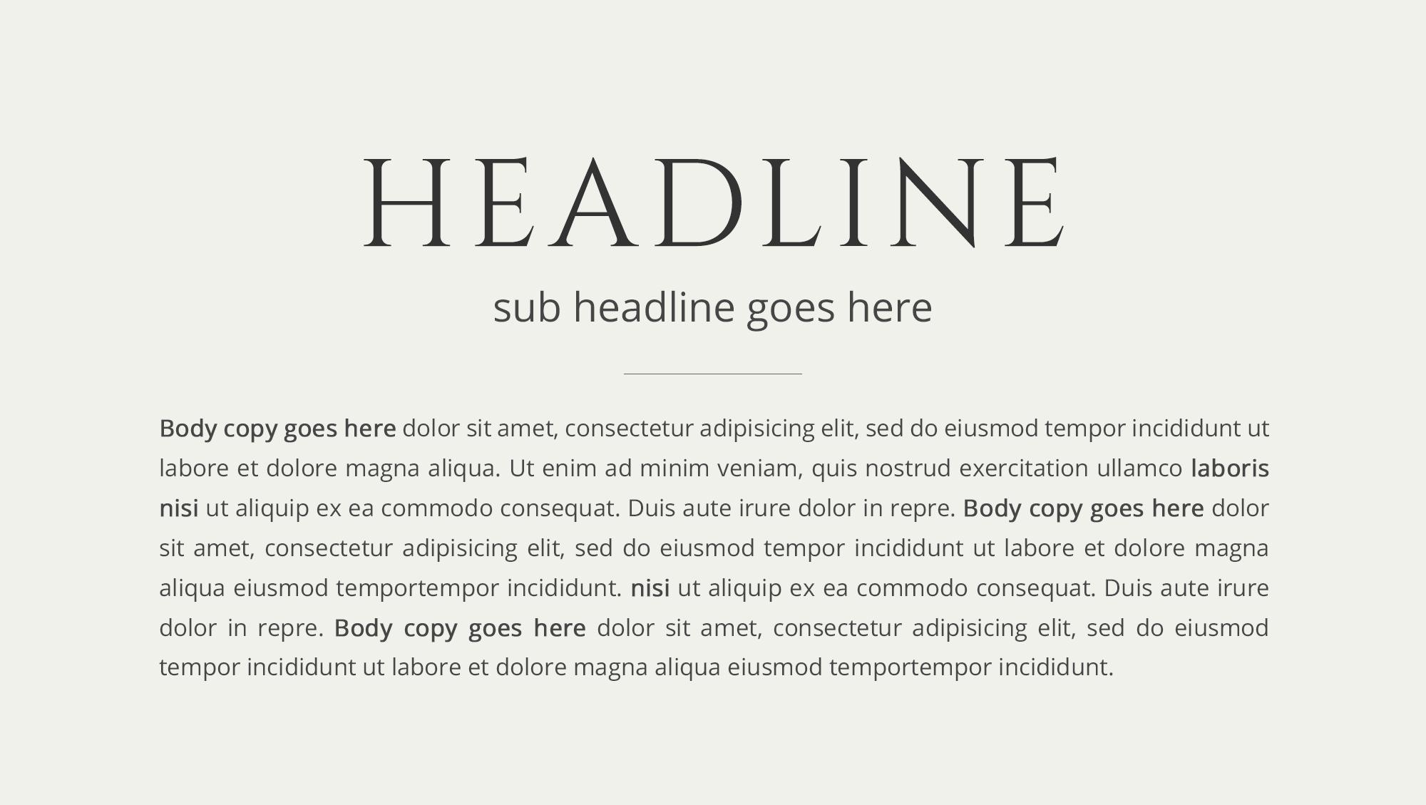 Visual Hierarchy example headline by White Box Design Studio
