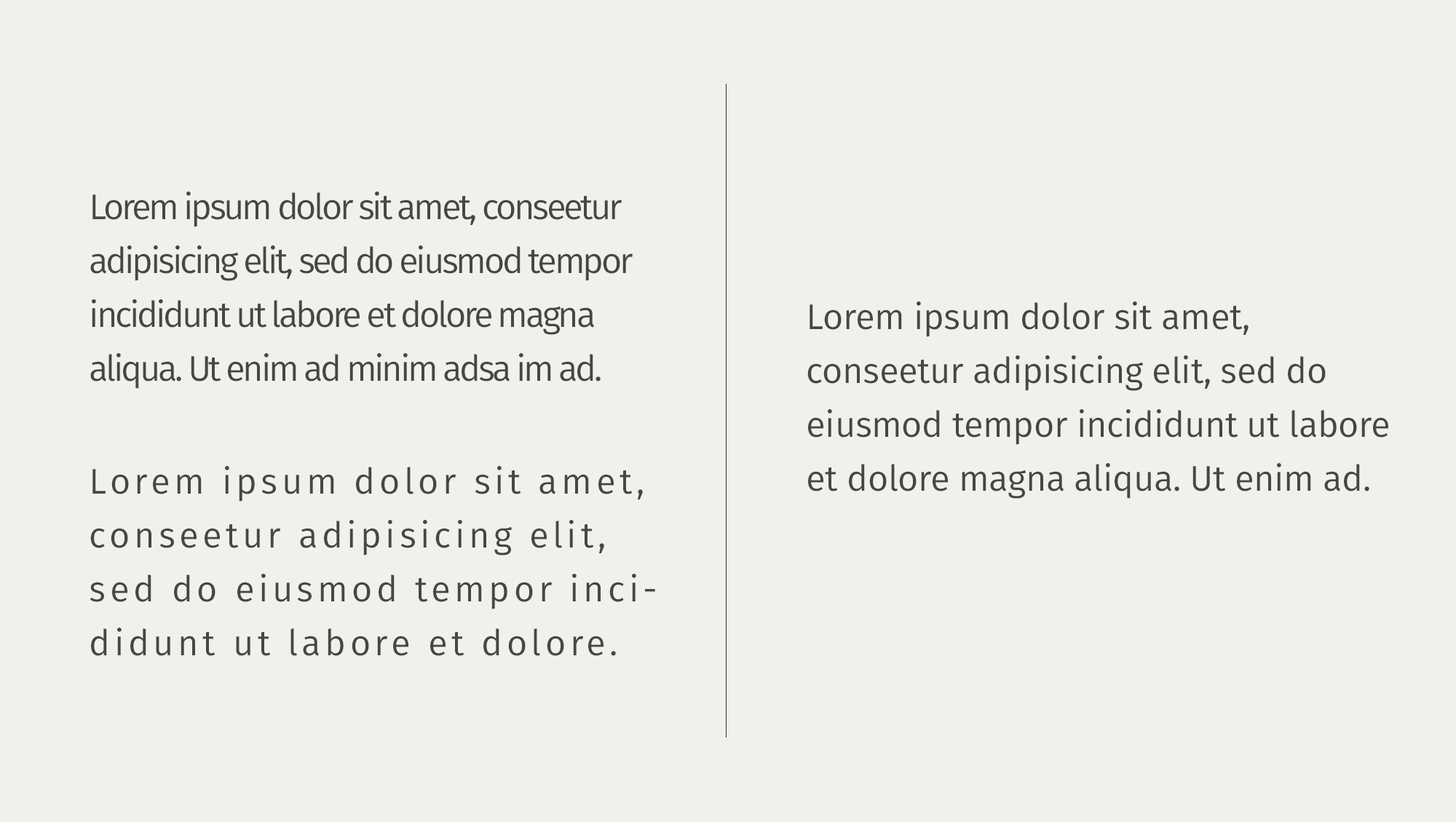 Word space example by White Box Design Studio