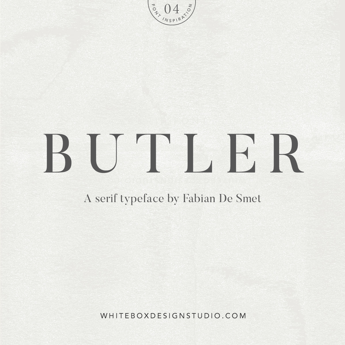 Wednesday inspiration: font & typography   No4-Butler typeface posted by White Box Design Studio