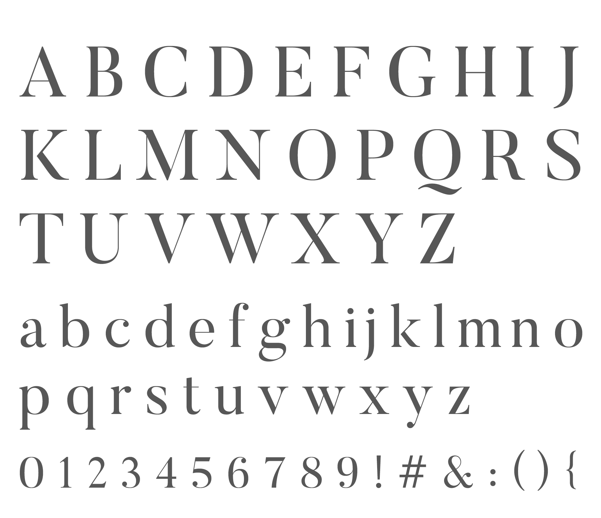 Wednesday inspiration: font & typography   No4-Butler alphabet posted by White Box Design Studio