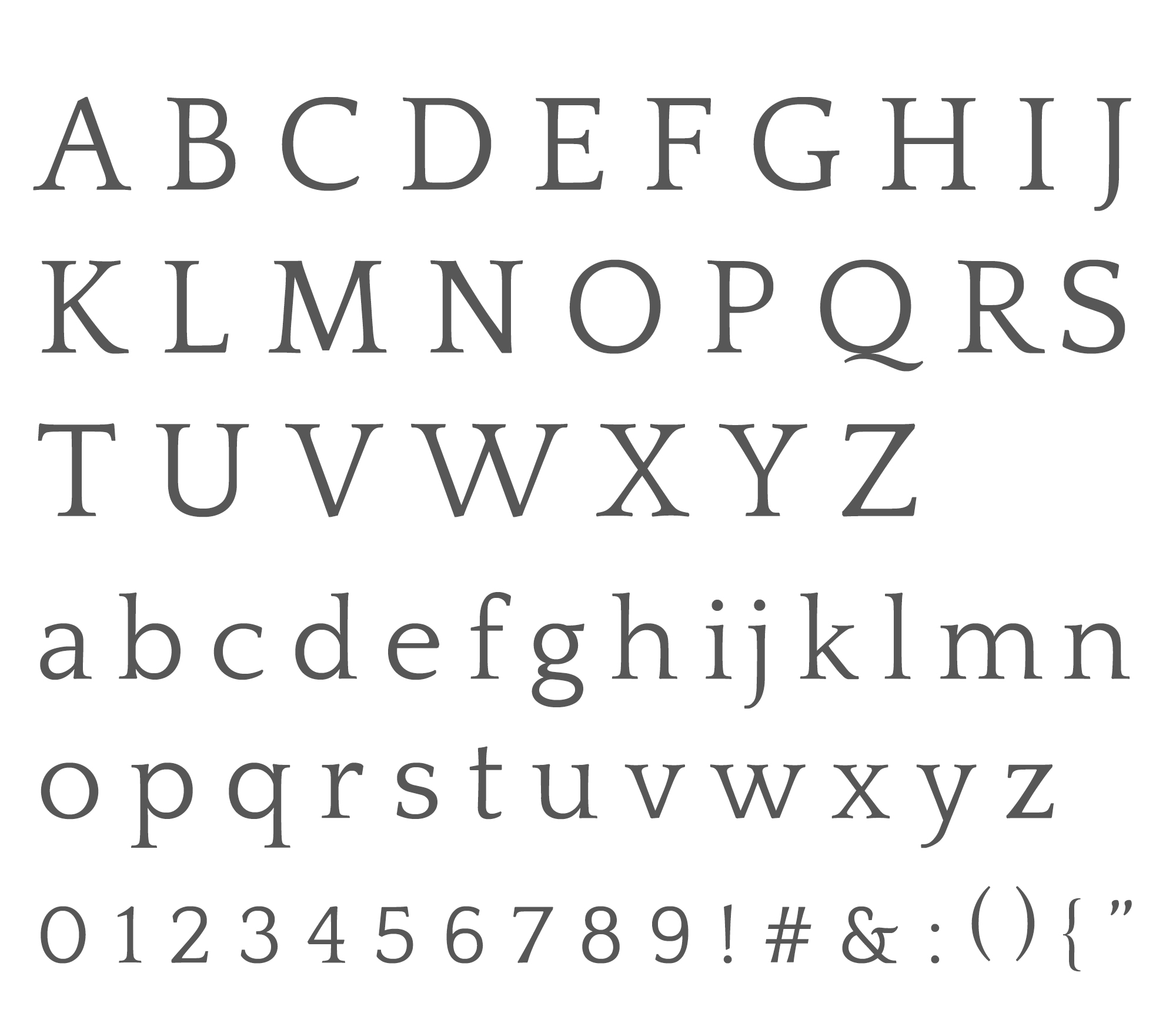 Wednesday inspiration: font & typography | No3-Quattrocento alphabet posted by White Box Design Studio