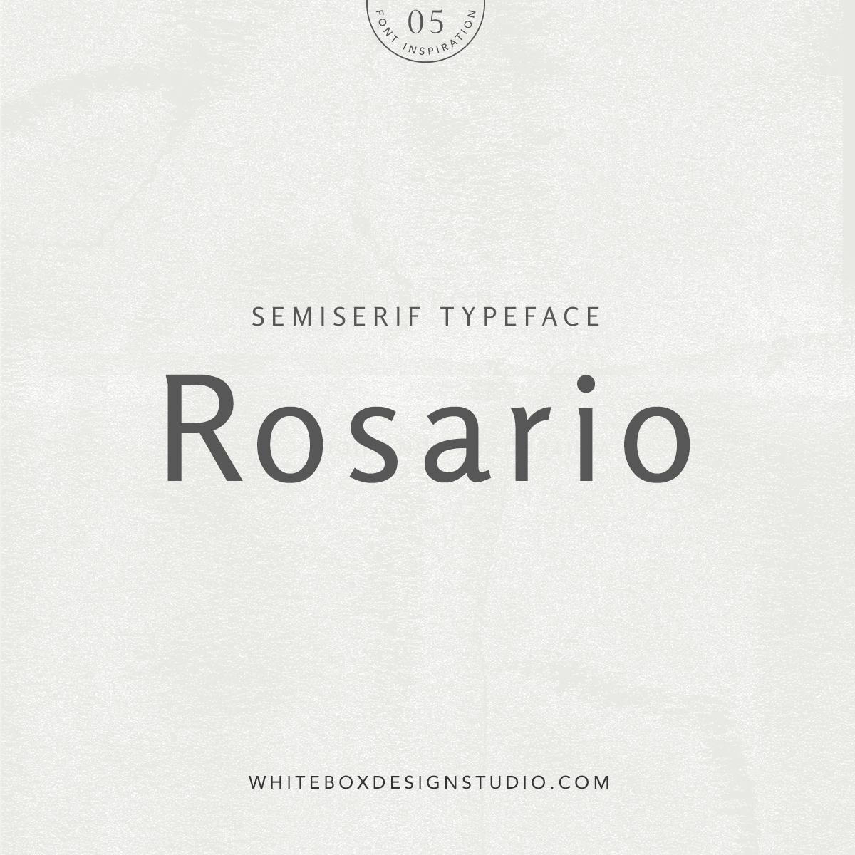 Wednesday inspiration: font & typography   No.5-Rosario typeface posted by White Box Design Studio