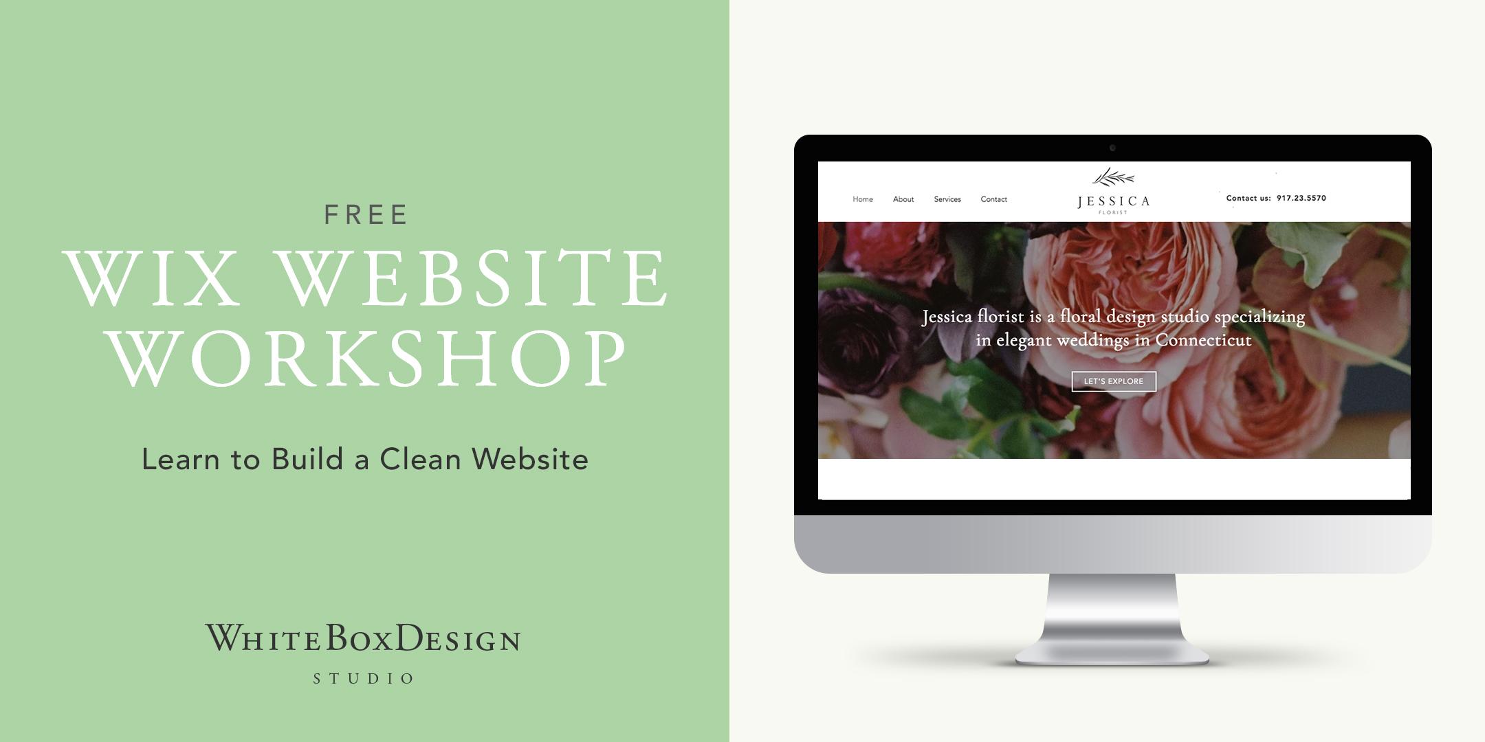 White Box Design Studio hosting a Wix website workshop