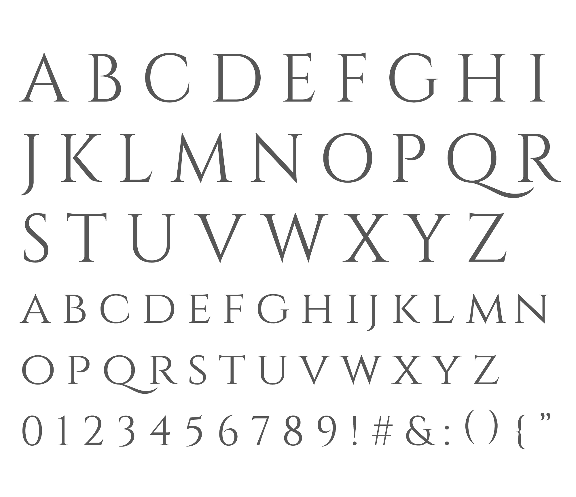 Wednesday inspiration: font & typography | No.8-Cinzel alphabet posted on White Box Design Studio