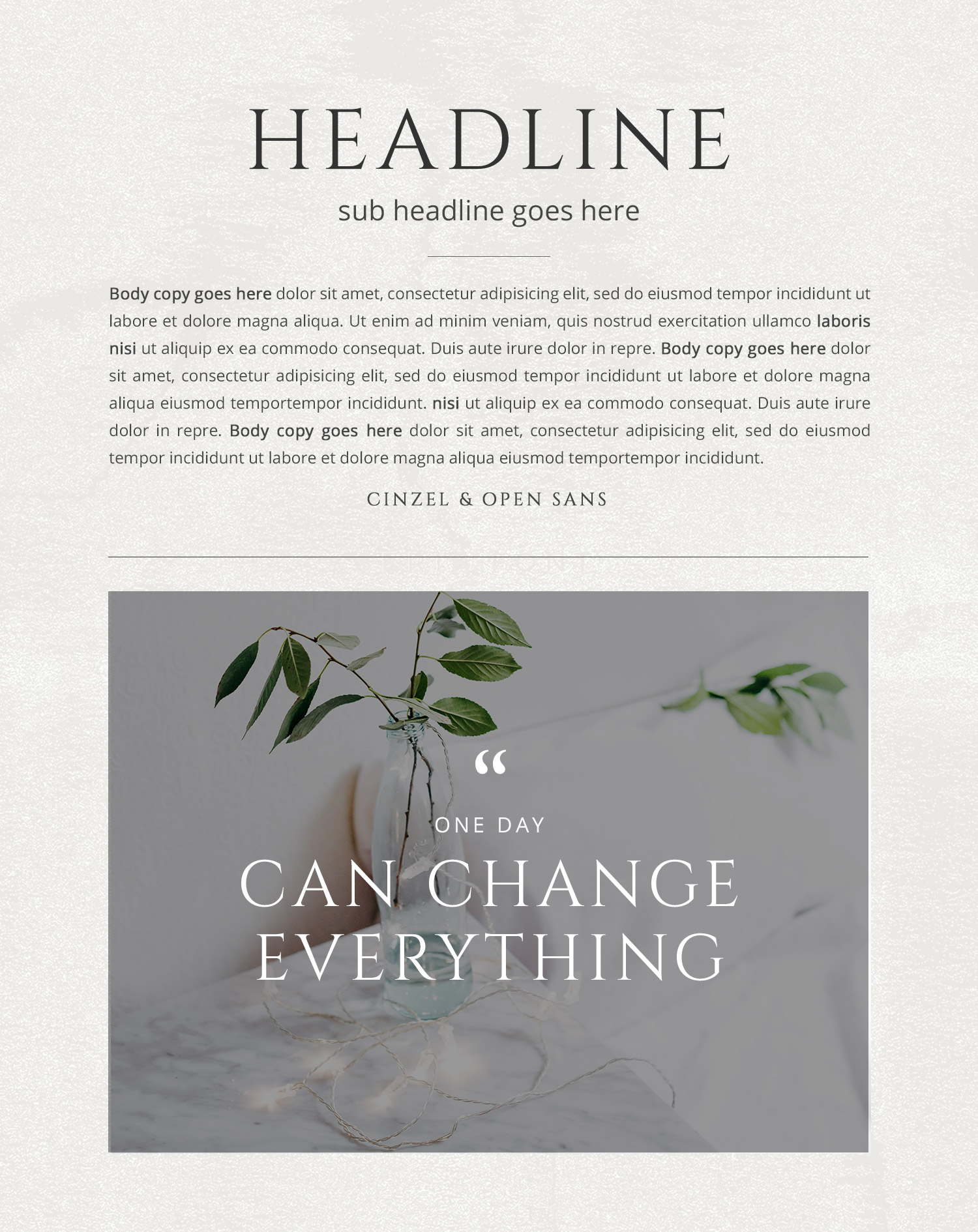 Wednesday inspiration: font & typography | No.8-Cinzel and Open Sans font combination by White Box Design Studio