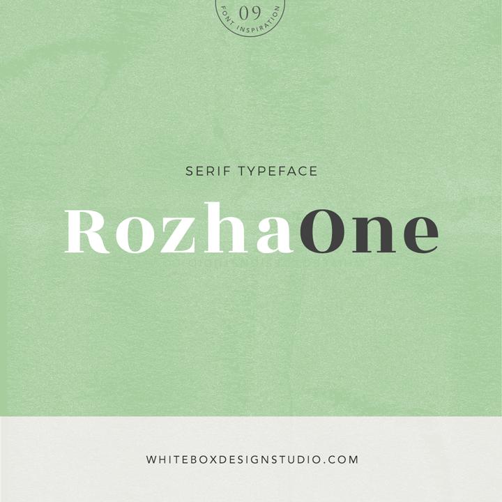 Wednesday inspiration: font & typography | No.9-Rozha One posted on White Box Design Studio