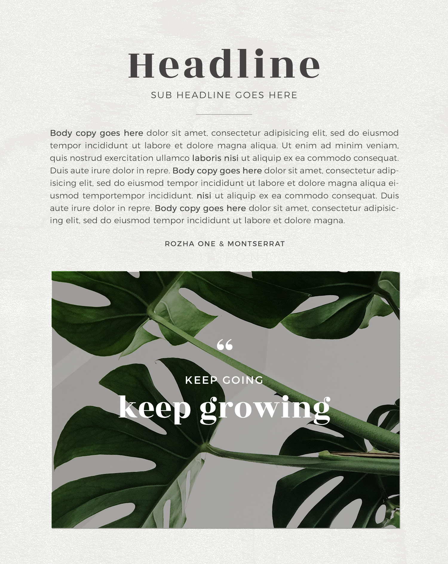 Wednesday inspiration: font & typography | No.9-Rozha One and Montserrat font combination by White Box Design Studio