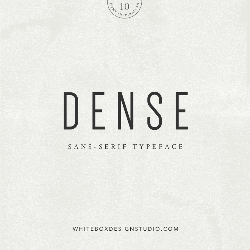 Wednesday inspiration: font & typography | No.10-Dense posted on White Box Design Studio