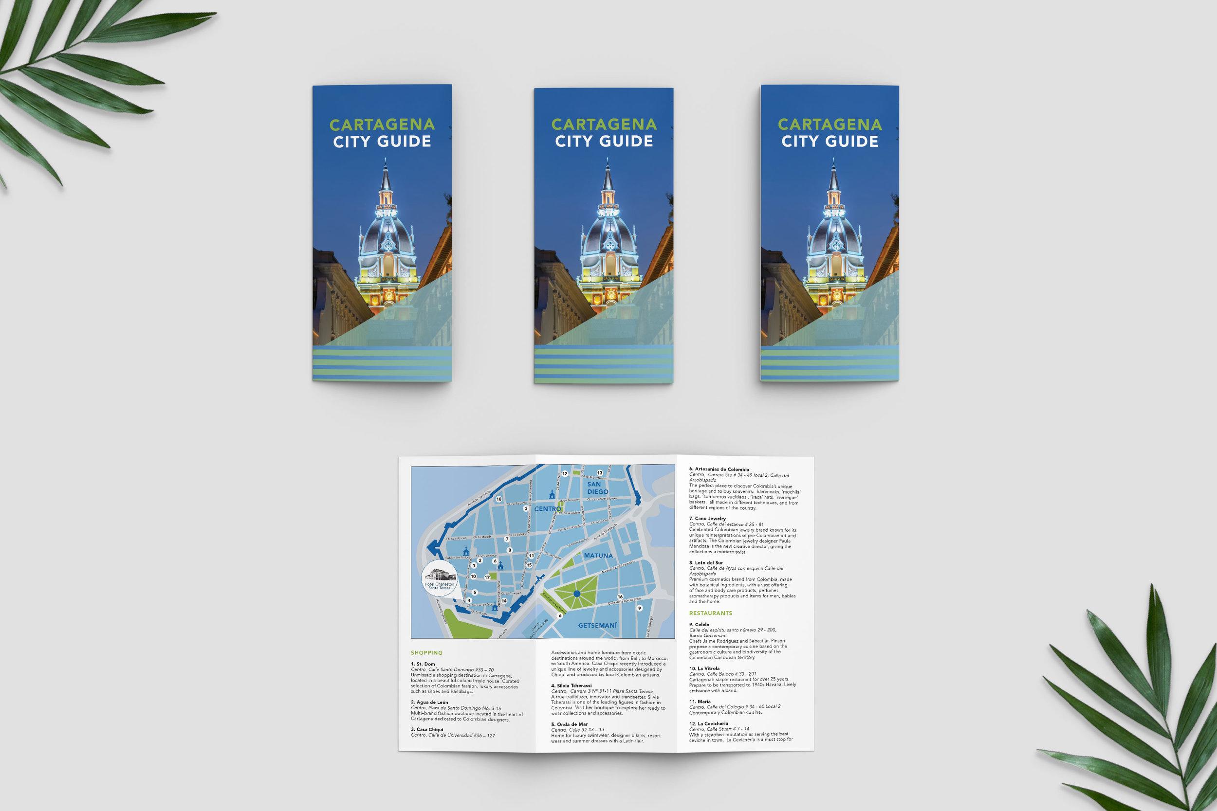 Cartagena city guide-trifold brochures